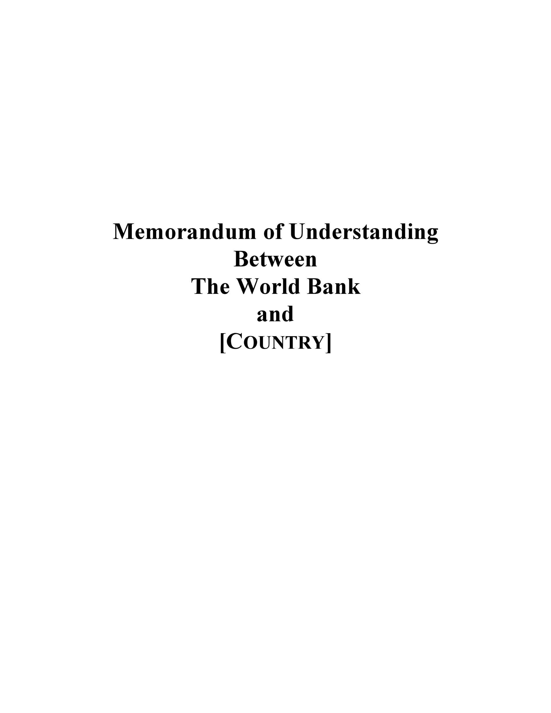 Free Memorandum of Understanding Template 28