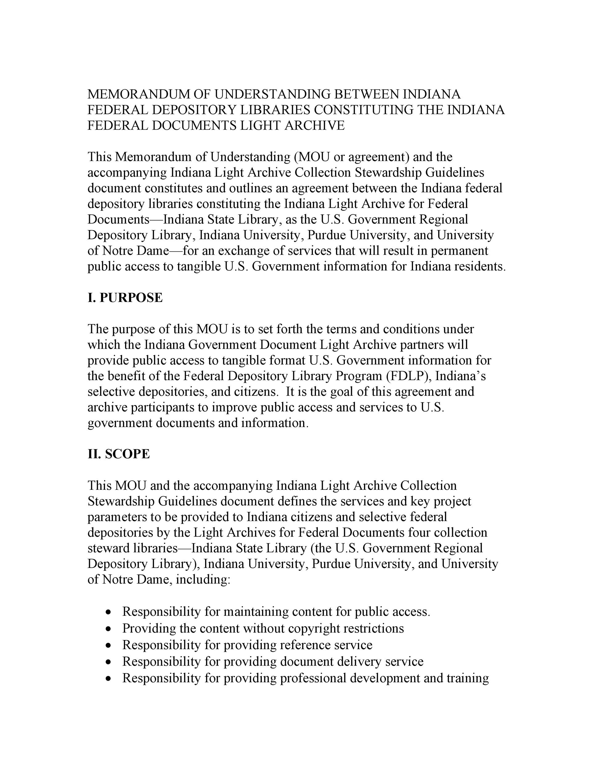 Free Memorandum of Understanding Template 29