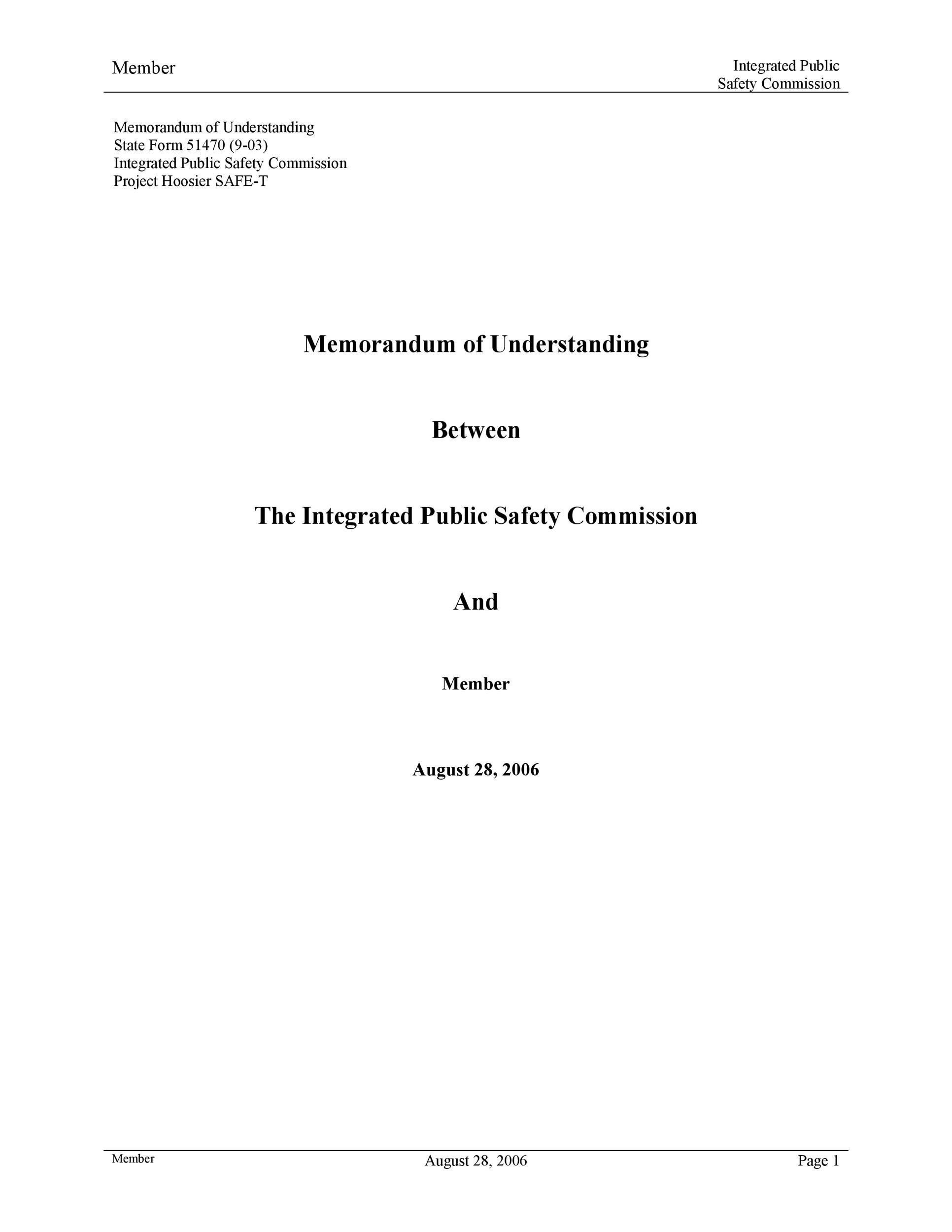 Free Memorandum of Understanding Template 32