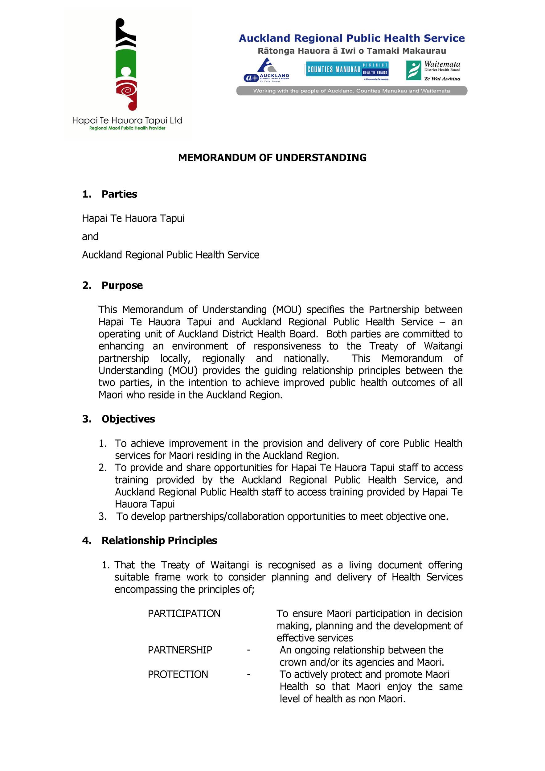 Free Memorandum of Understanding Template 34