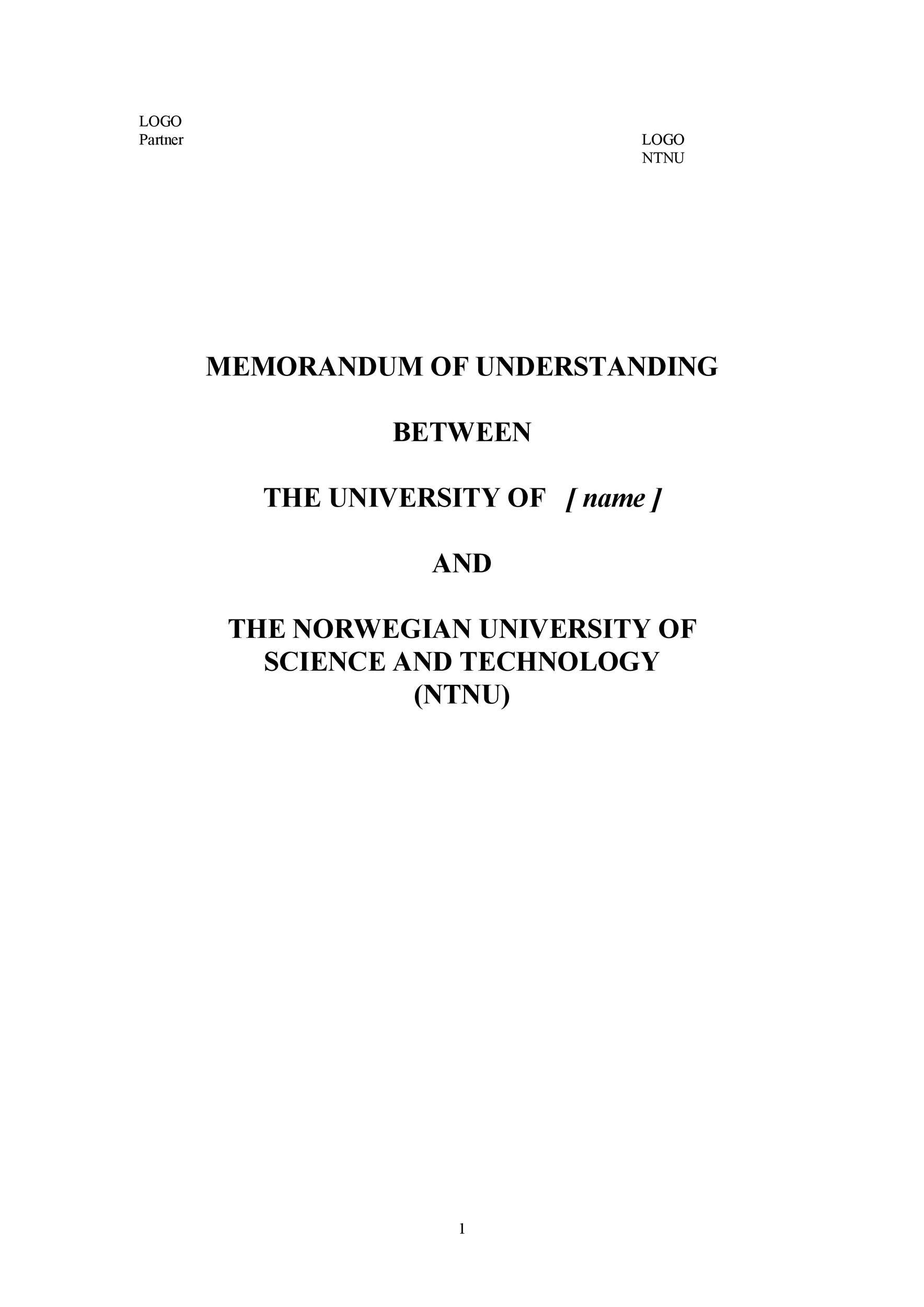 Free Memorandum of Understanding Template 35