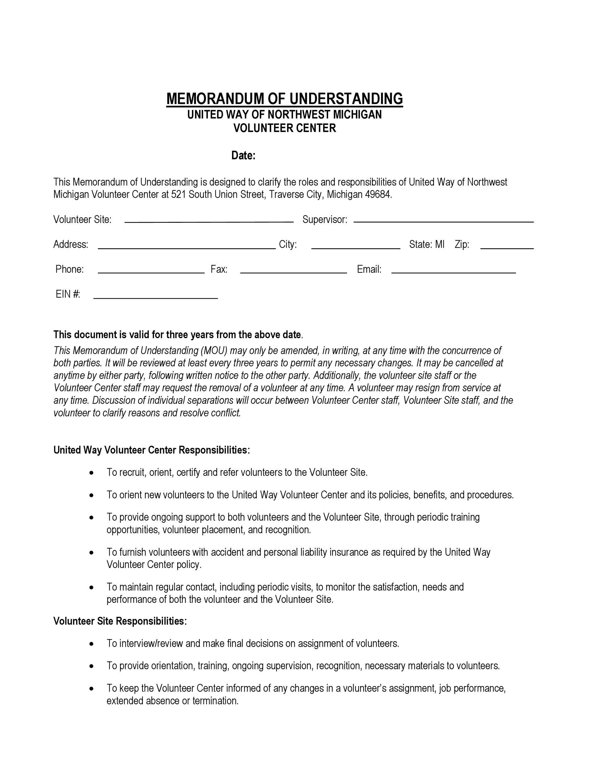 Free Memorandum of Understanding Template 38