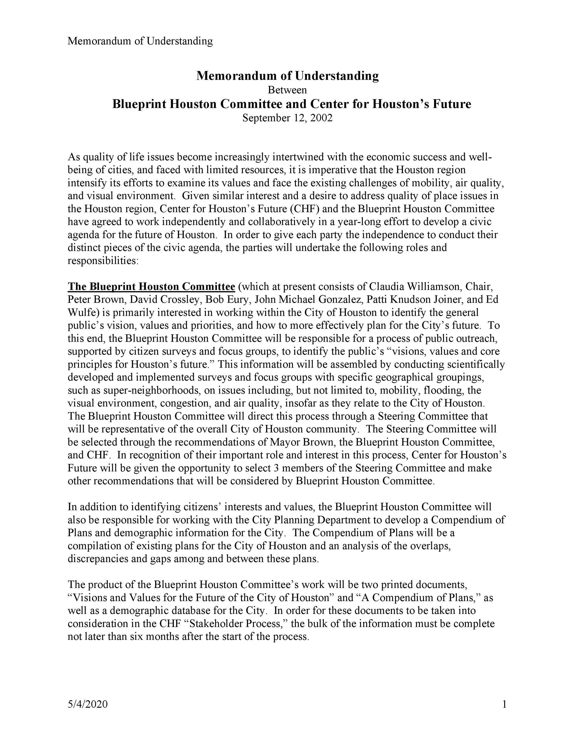 Free Memorandum of Understanding Template 44