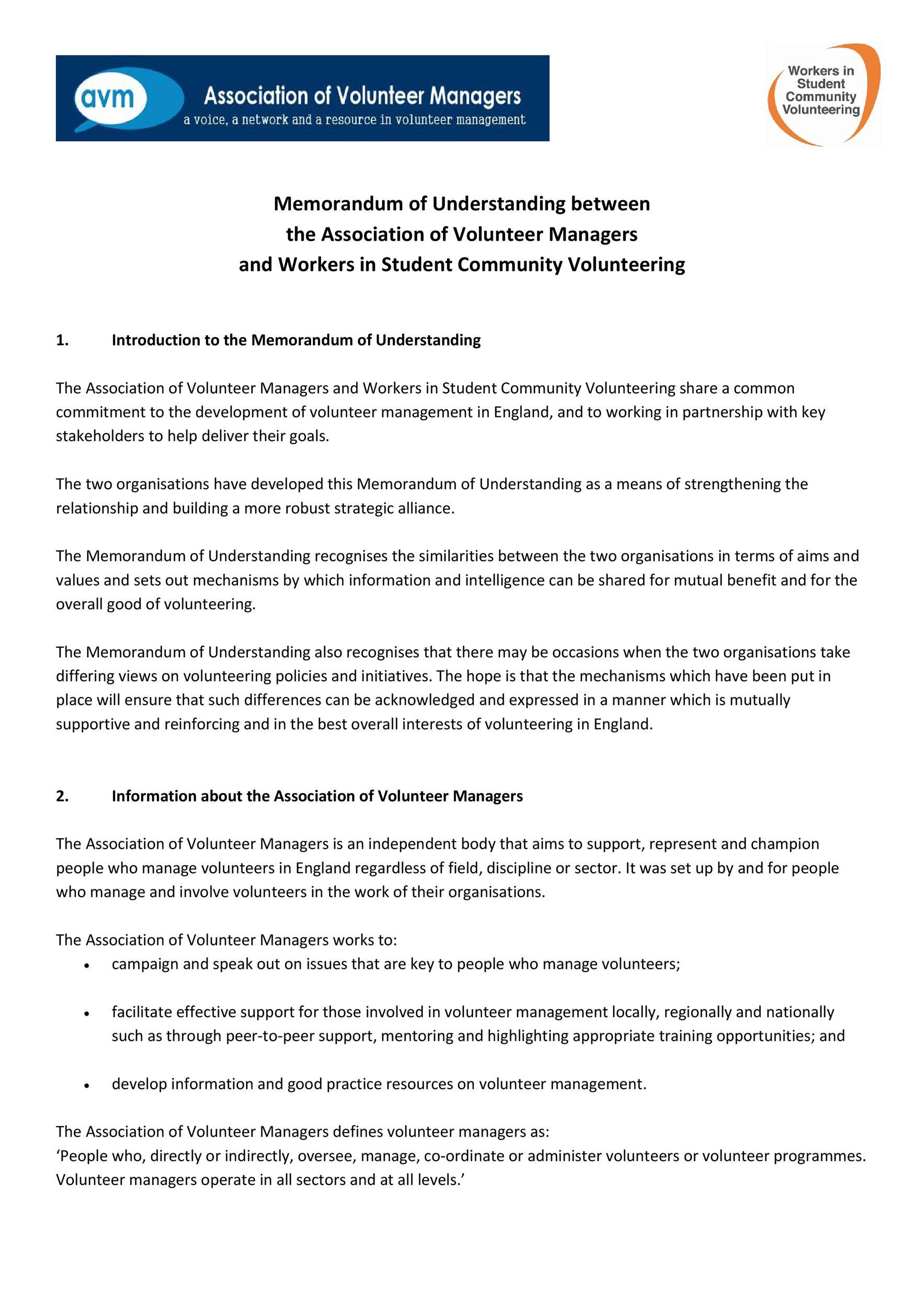Free Memorandum of Understanding Template 46
