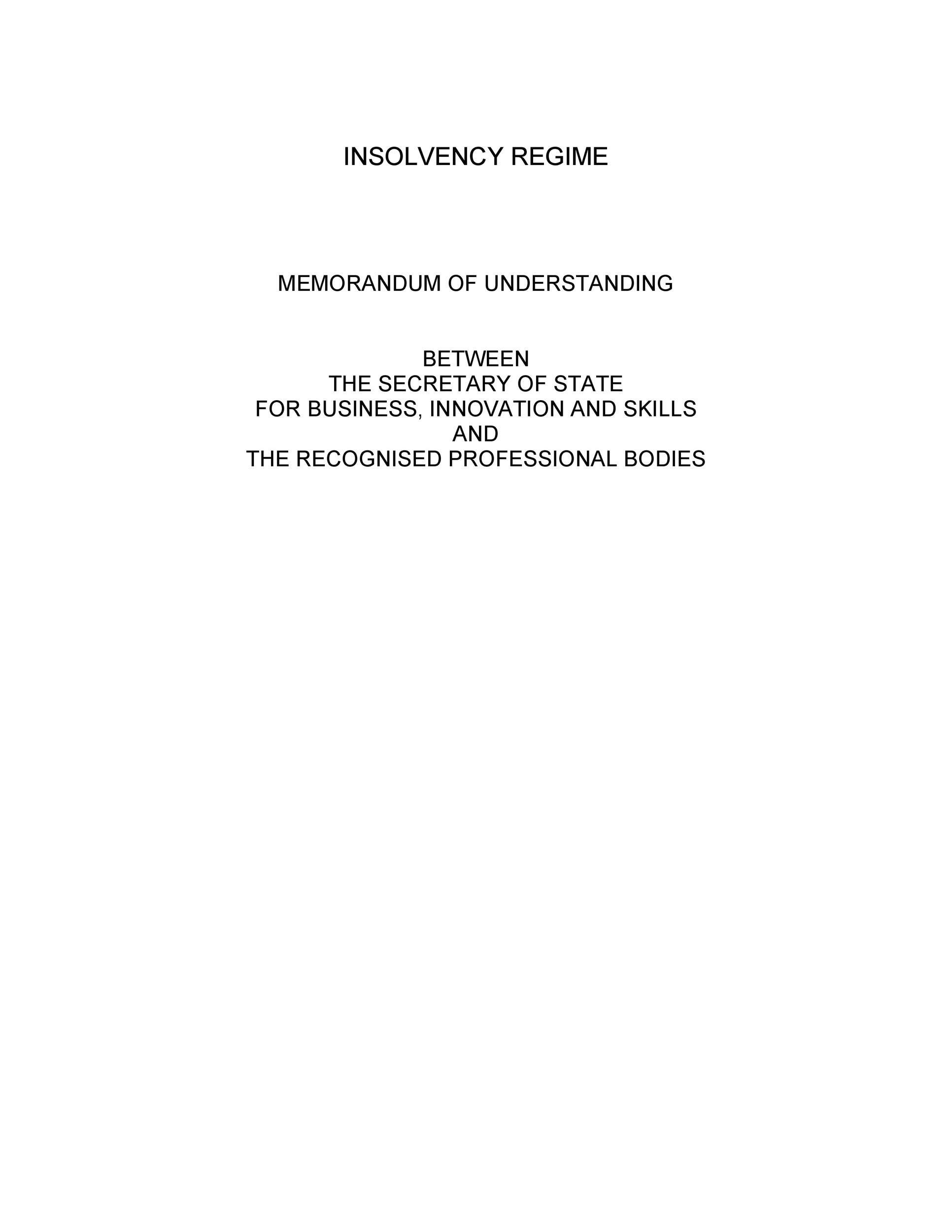 Free Memorandum of Understanding Template 47