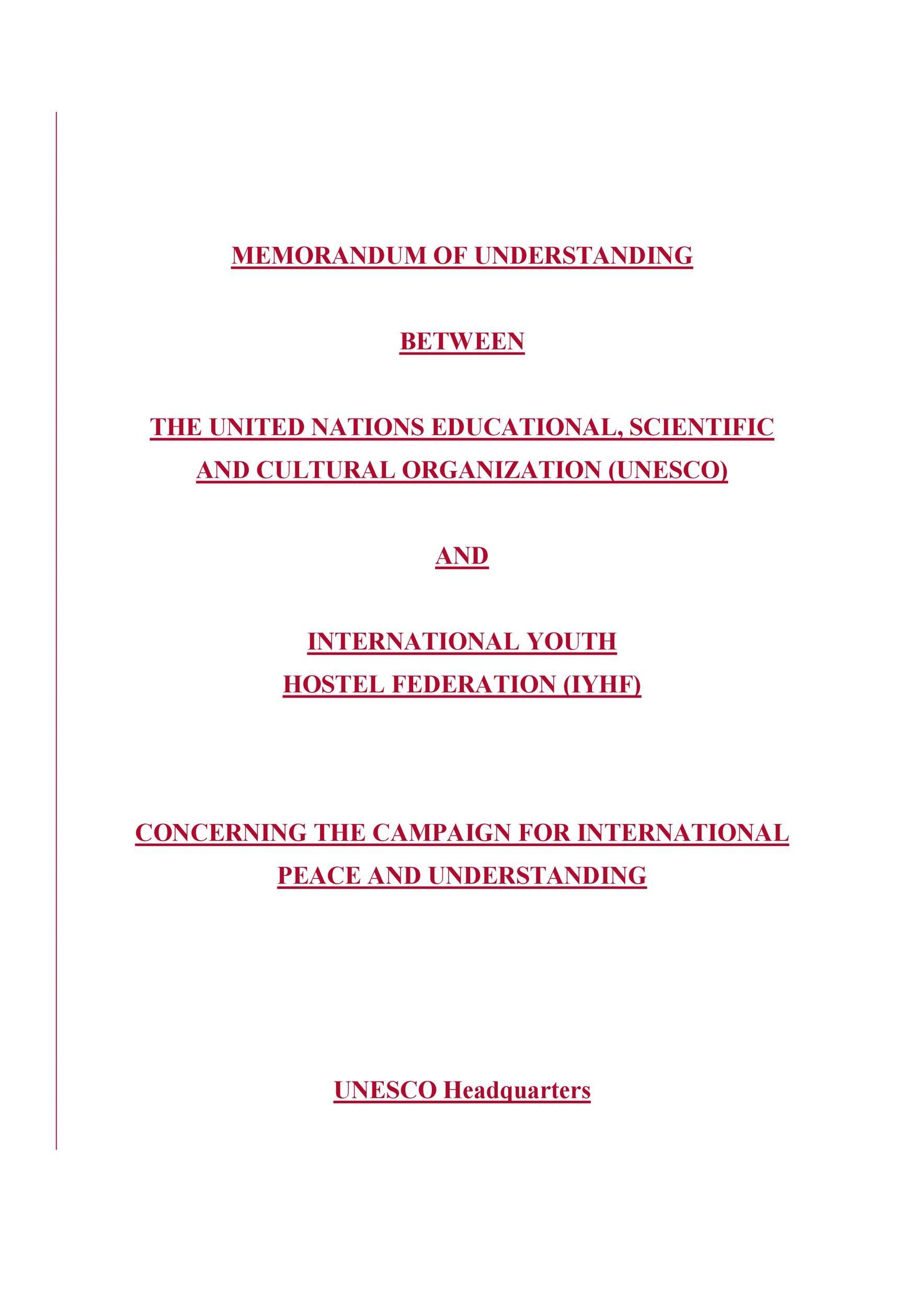 Free Memorandum of Understanding Template 50