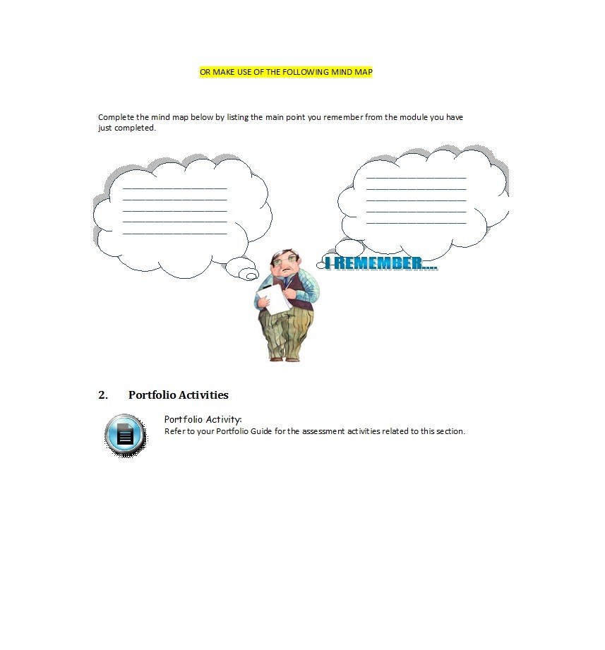 Free Mind Map Template 15