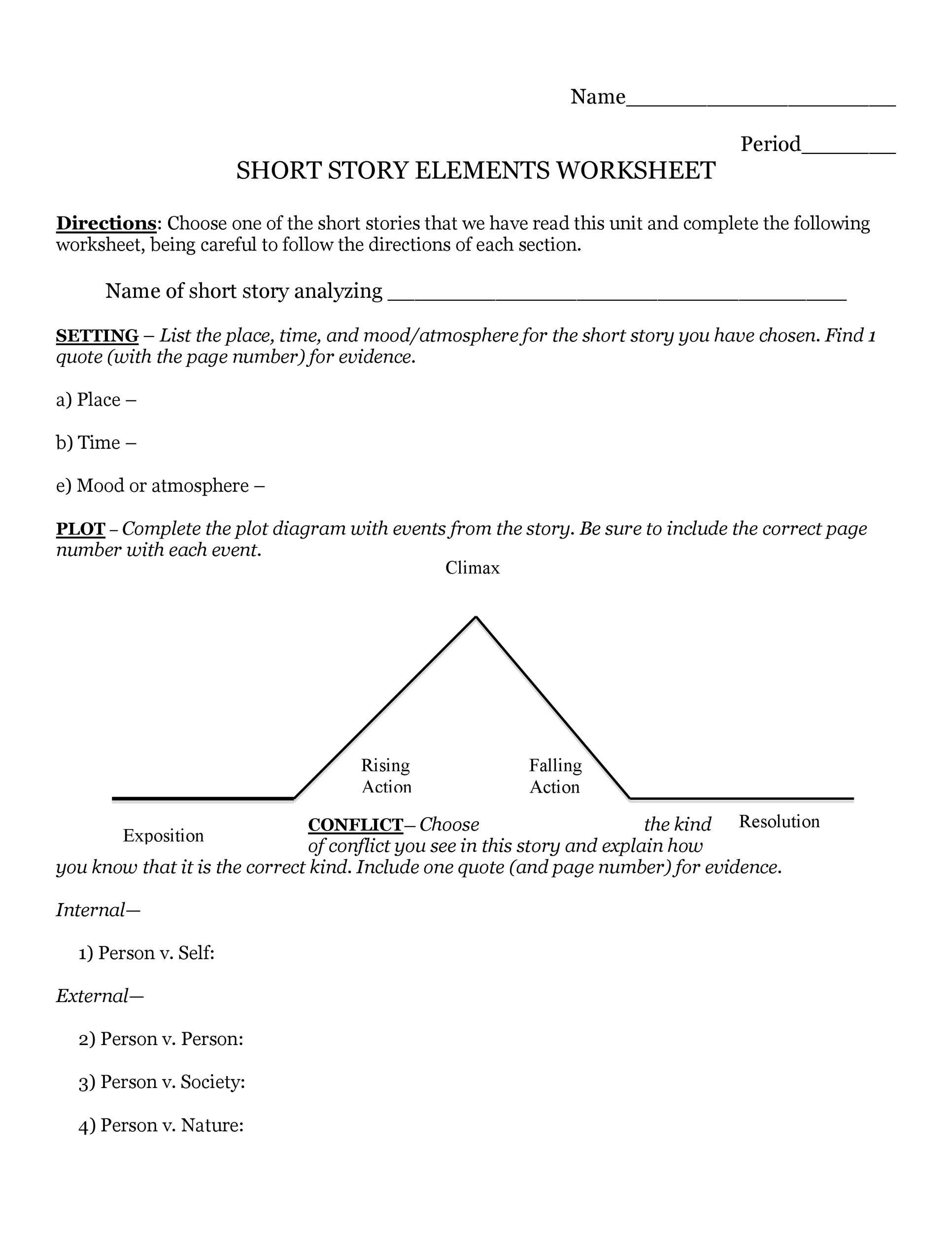 Free Plot Diagram Template 05
