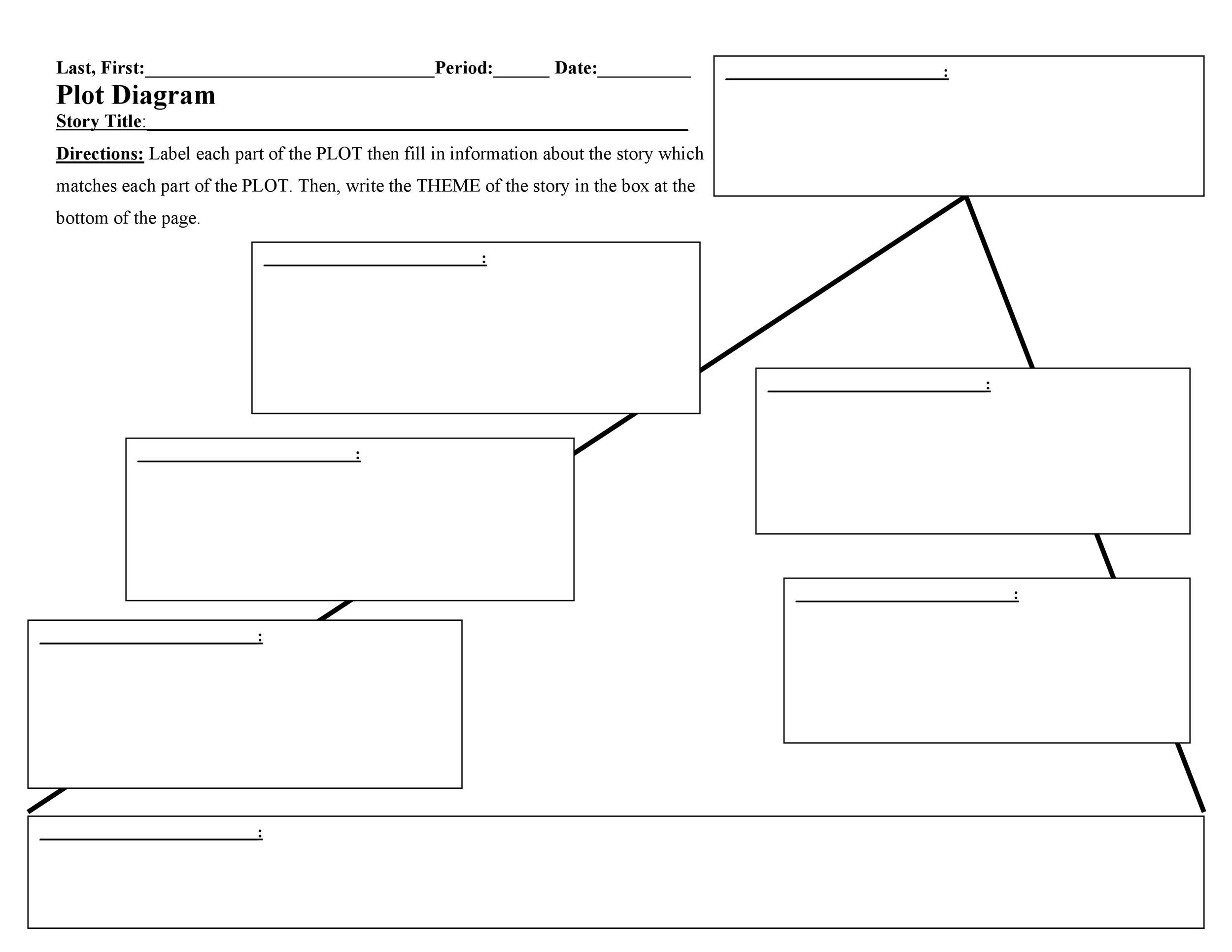 photograph about Printable Plot Diagram called 45 Educated Plot Diagram Templates (Plot Pyramid) ᐅ