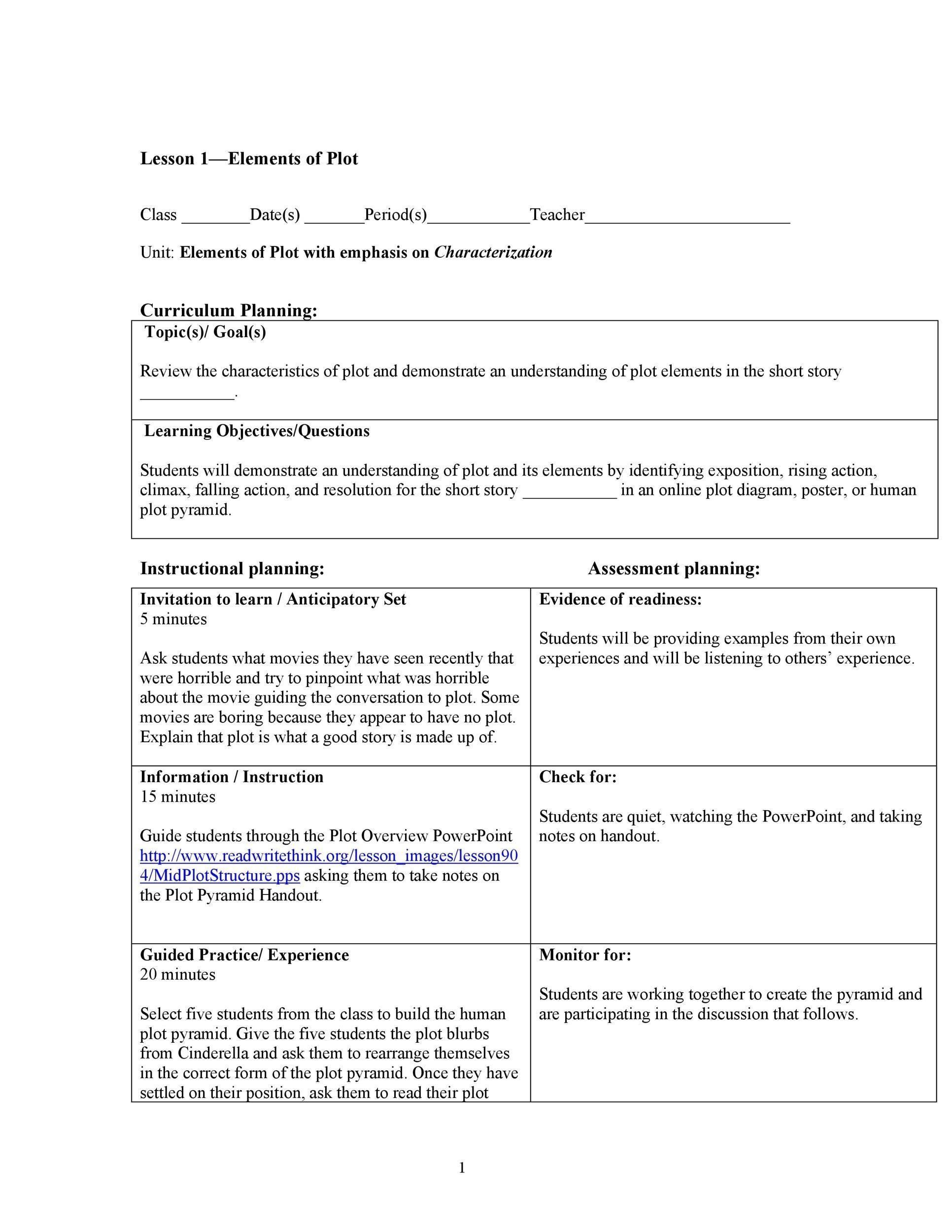 Free Plot Diagram Template 20