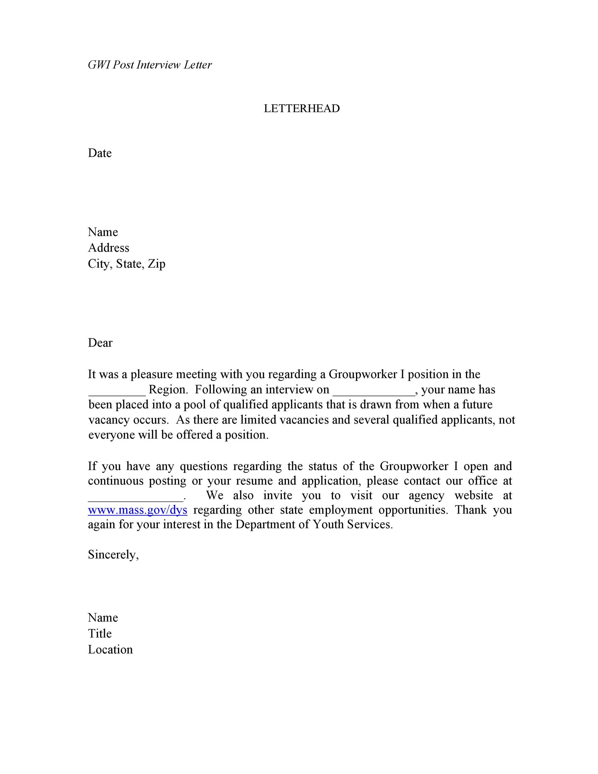 Free Rejection Letter 34