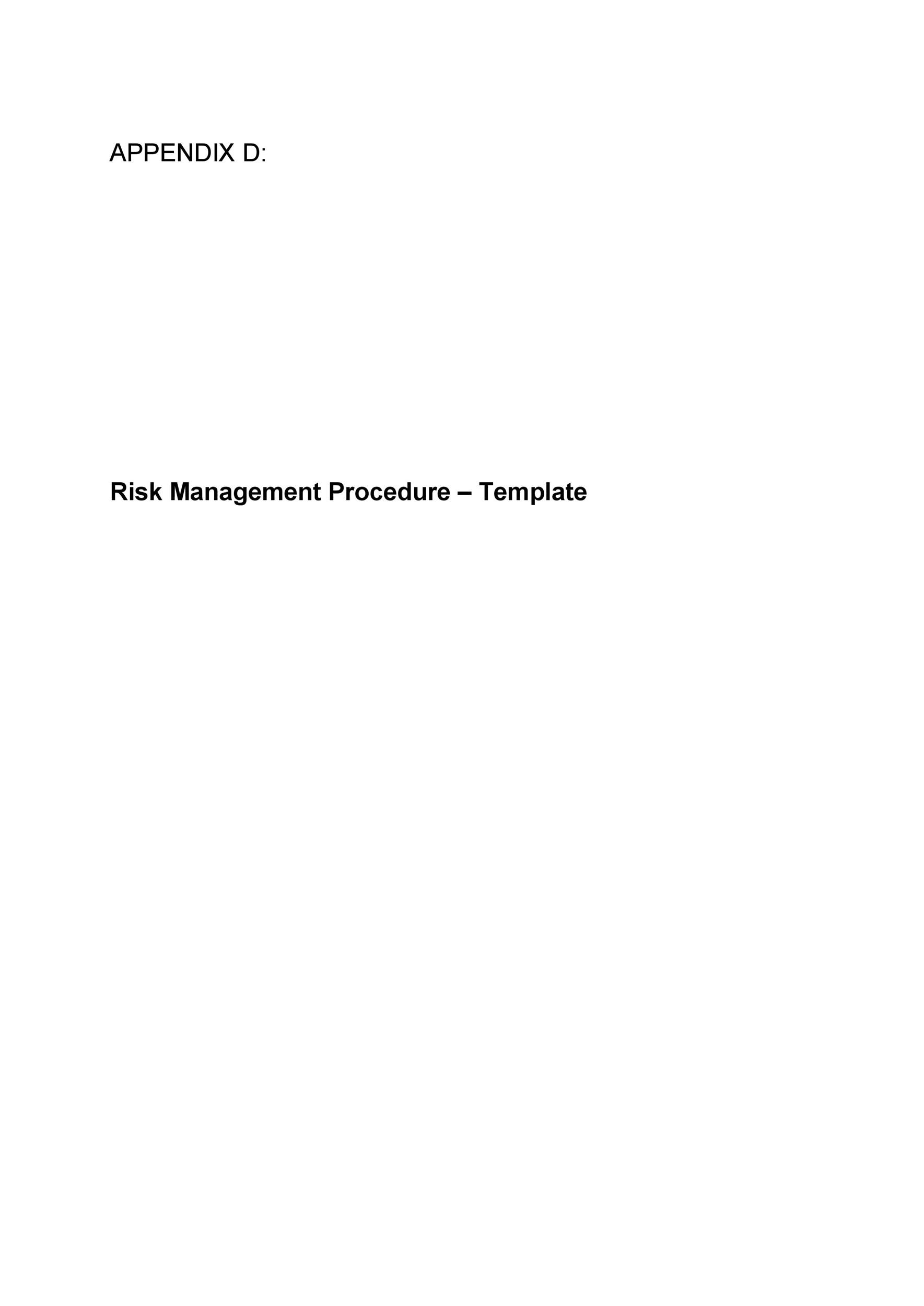 Free Risk Analysis Template 34
