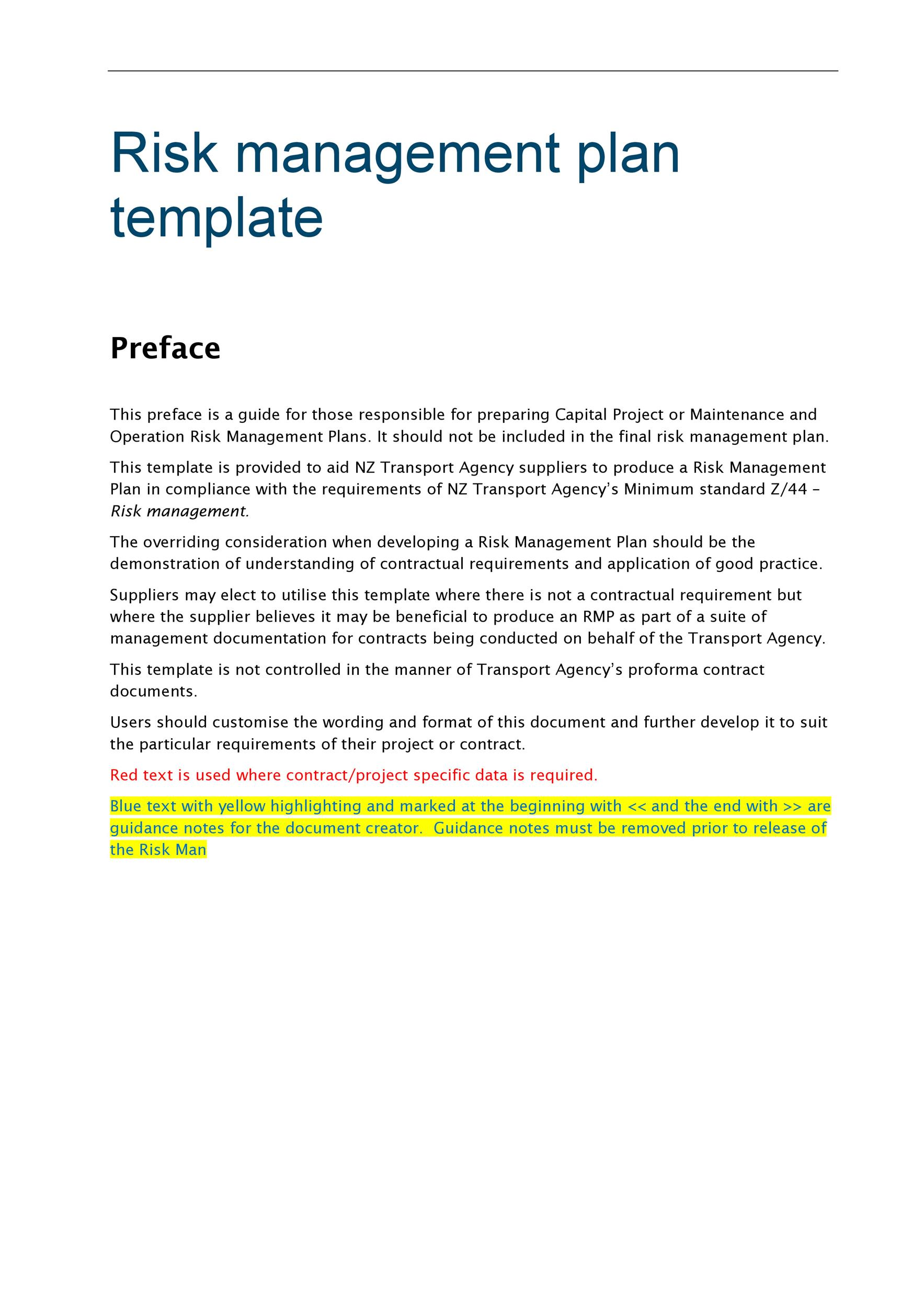 Free Risk Analysis Template 39
