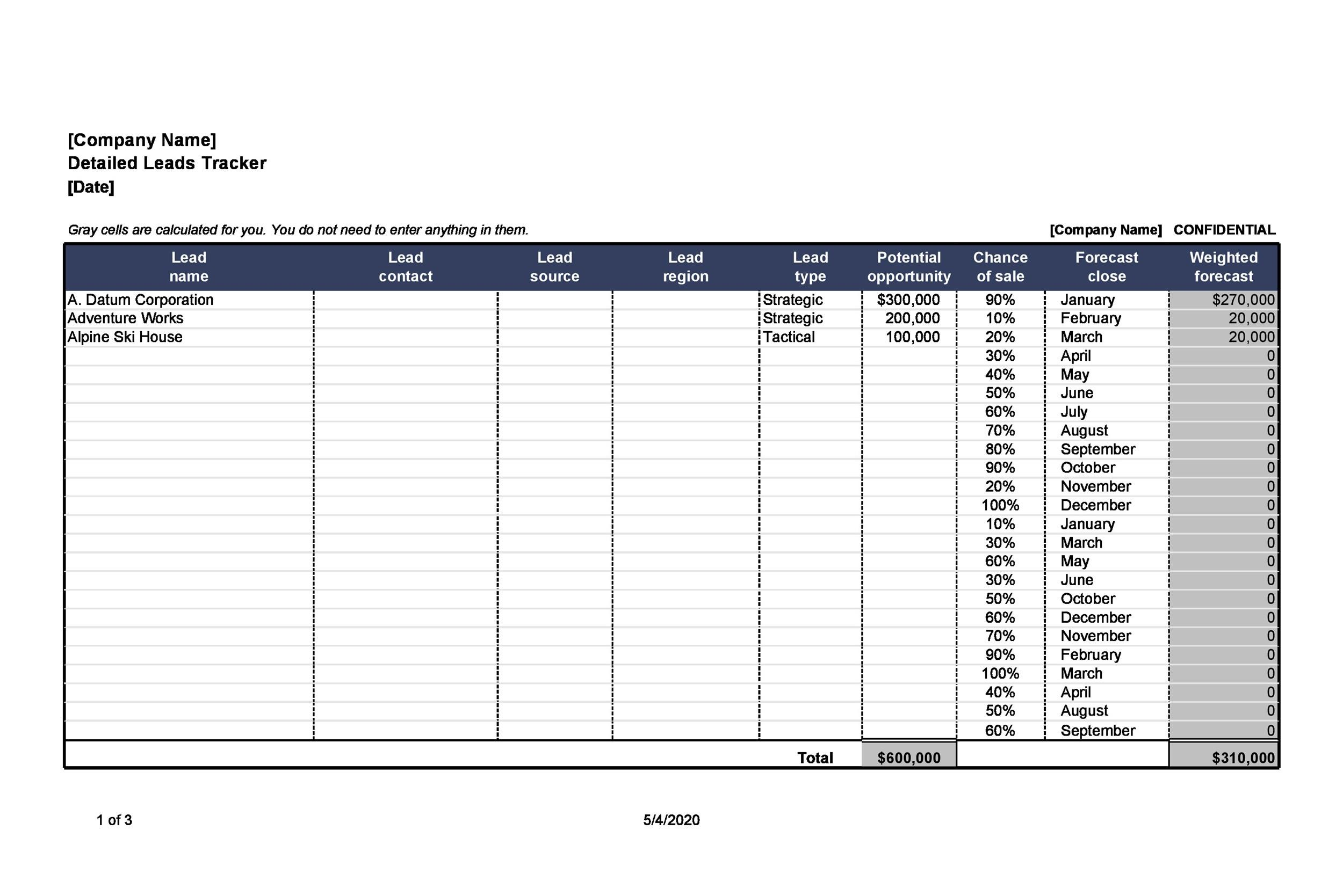 Prospecting Spreadsheet Template from templatelab.com