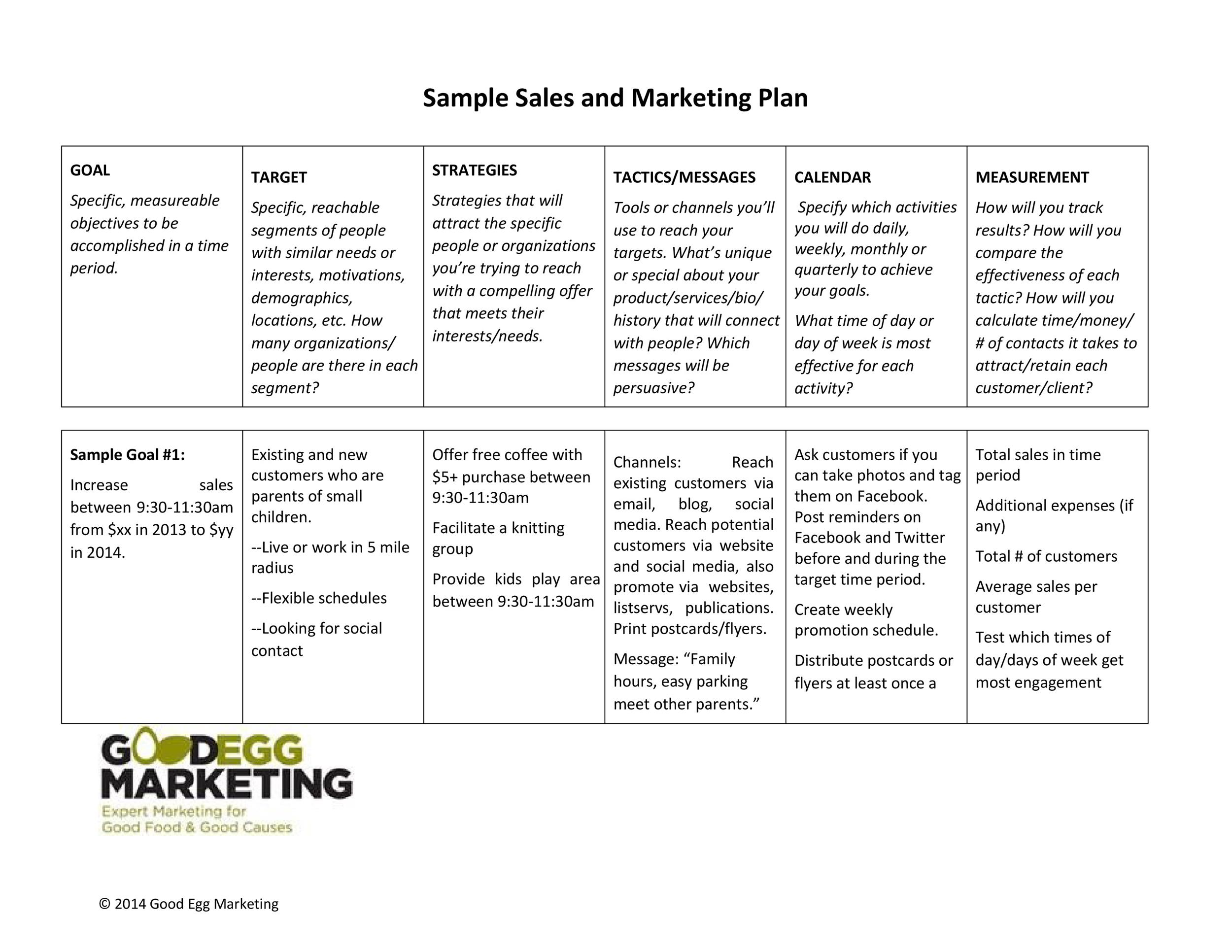 Free Sales Plan Template 09