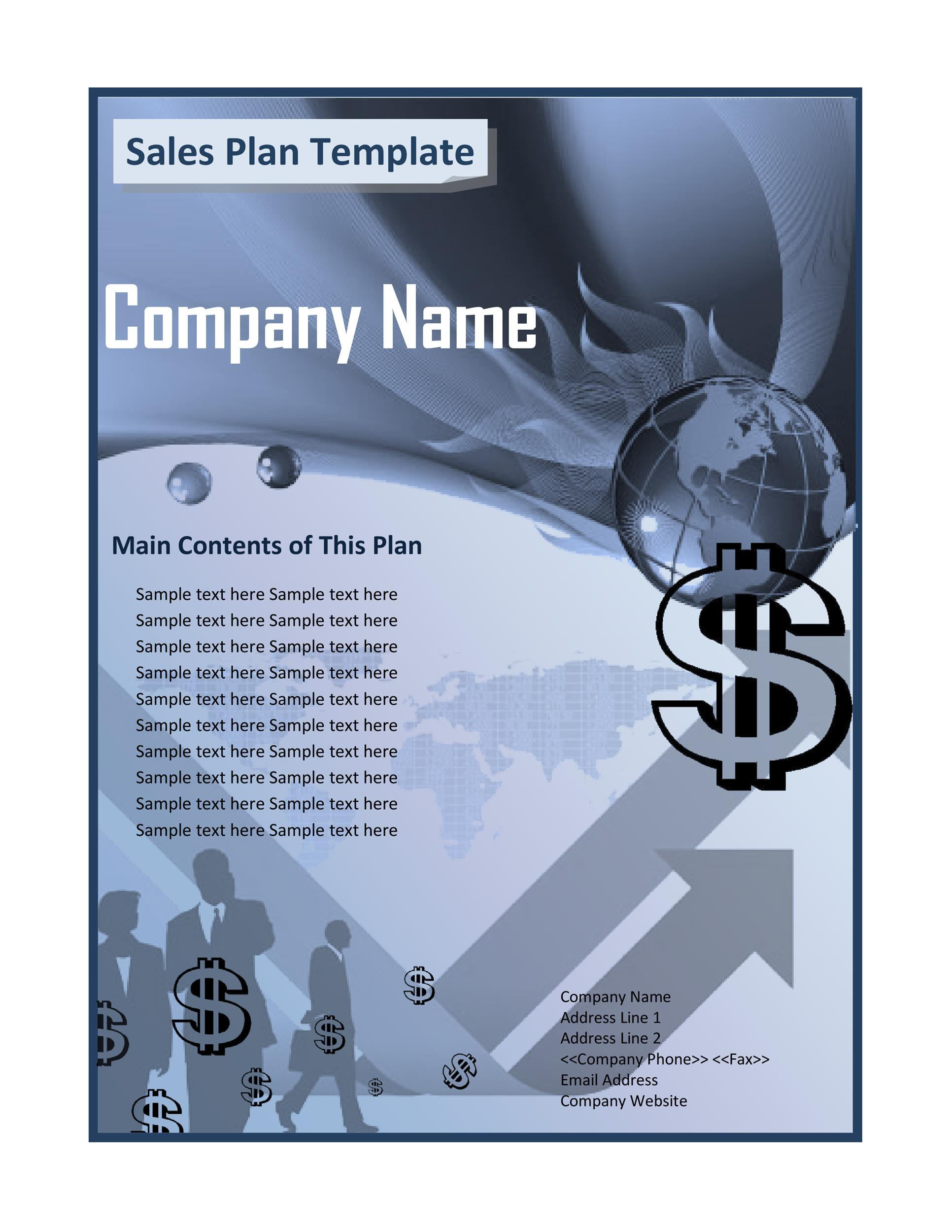 Free Sales Plan Template 21