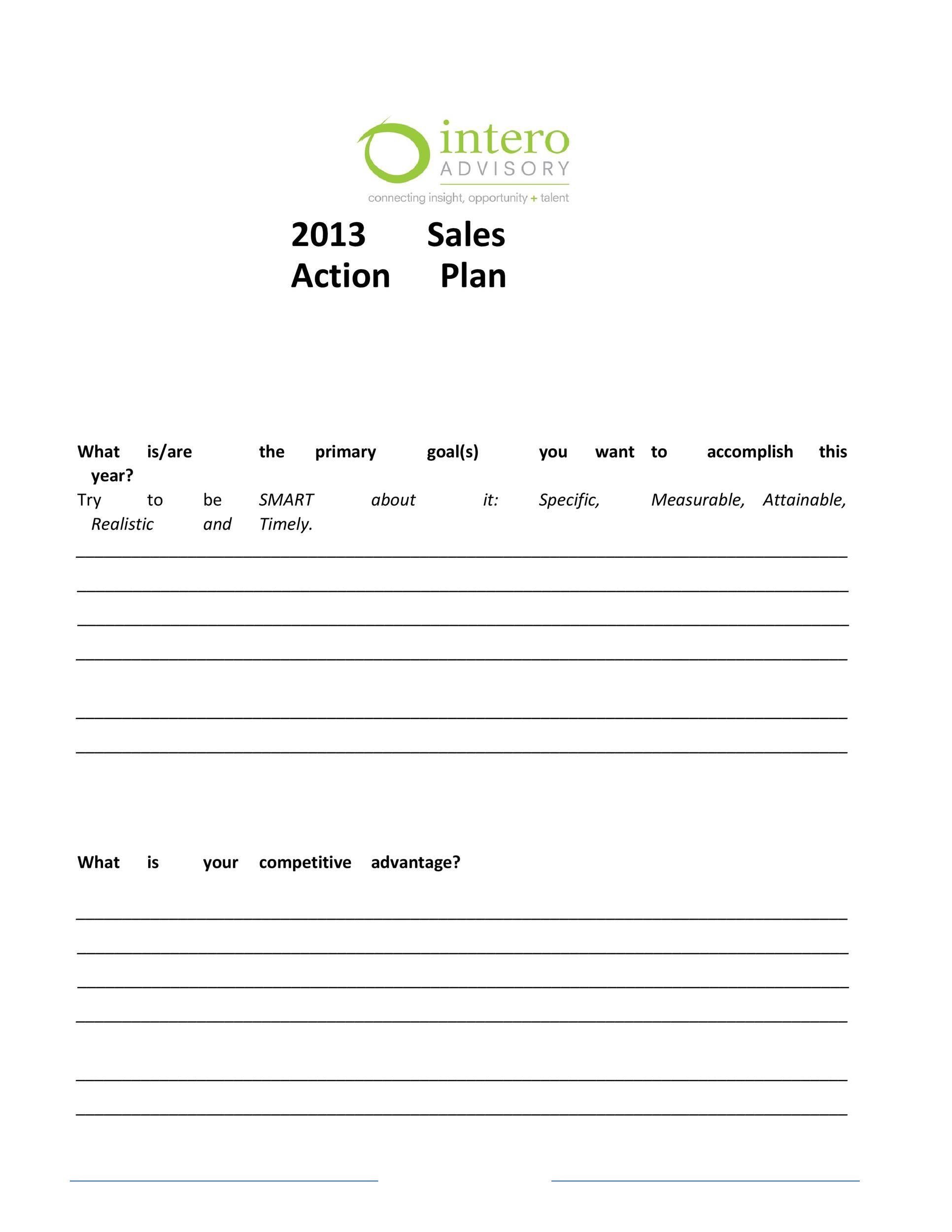 Free Sales Plan Template 22