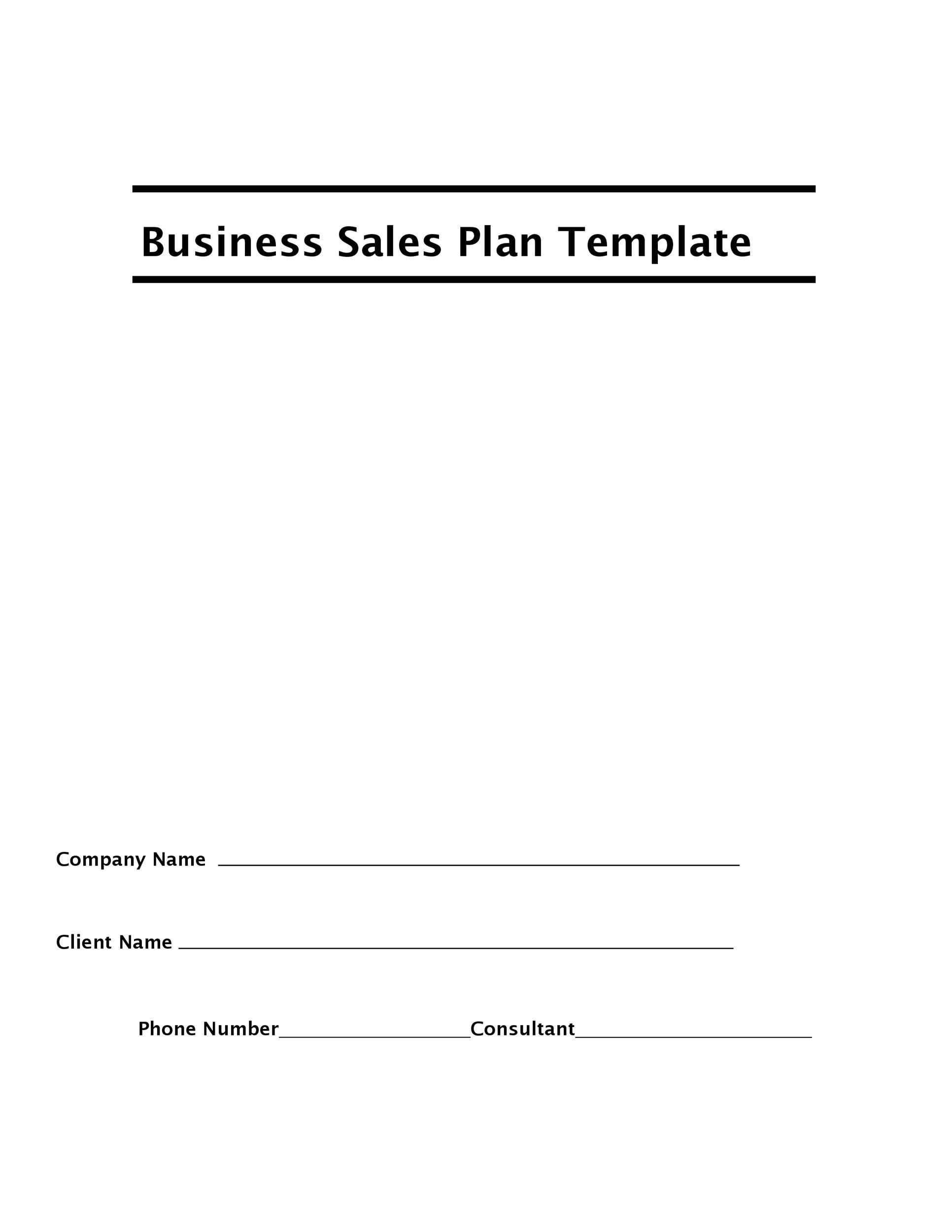 Free Sales Plan Template 25