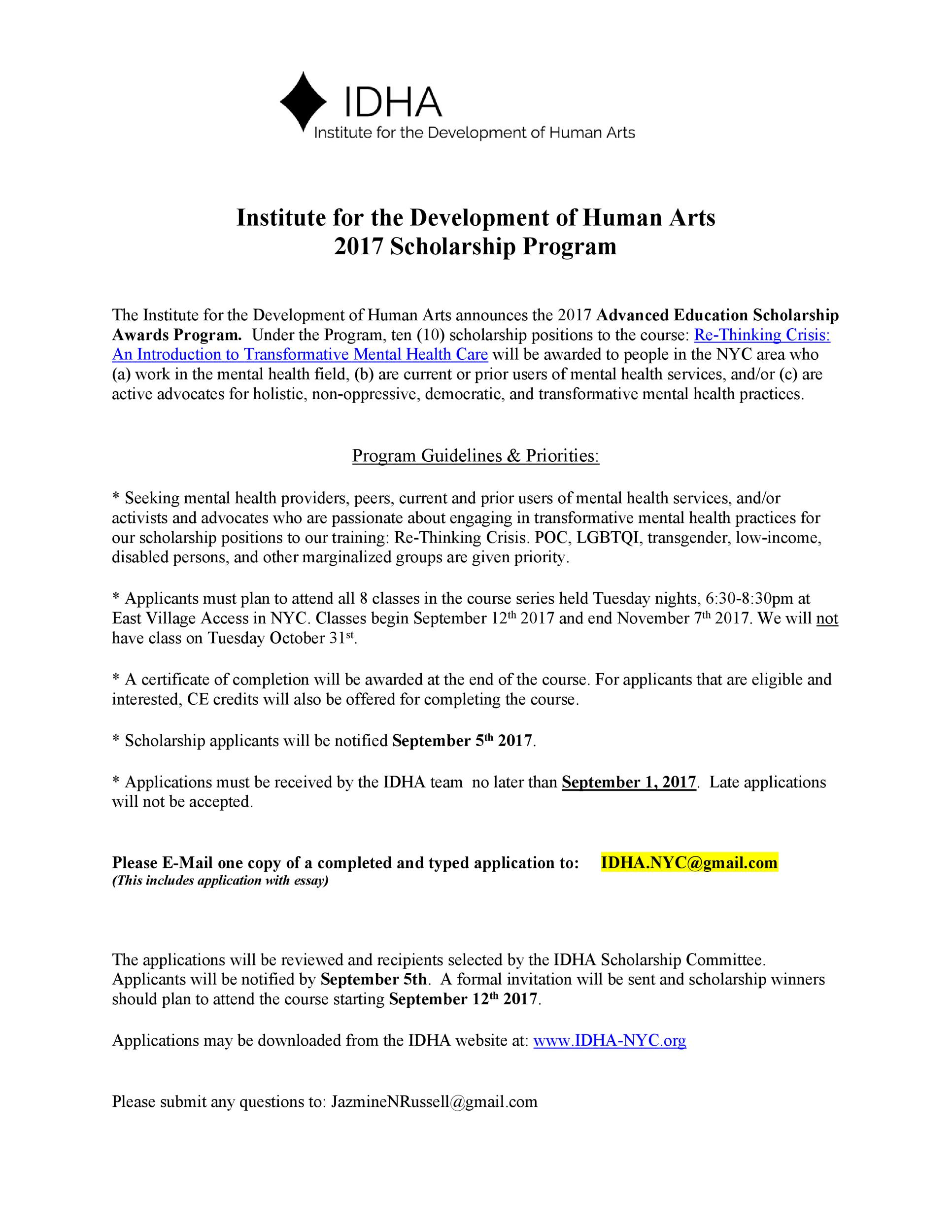 Free Scholarship Application Template 09