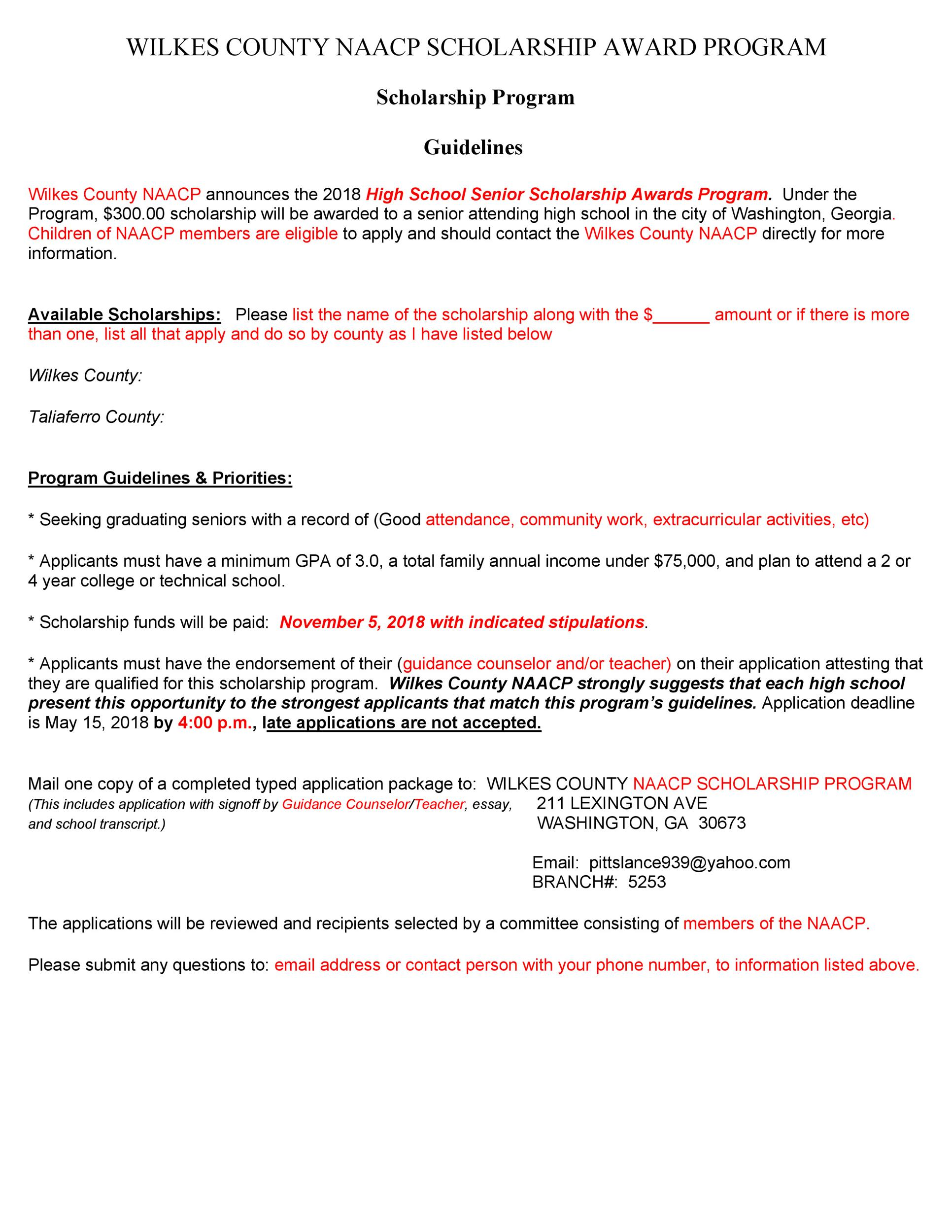 Free Scholarship Application Template 41