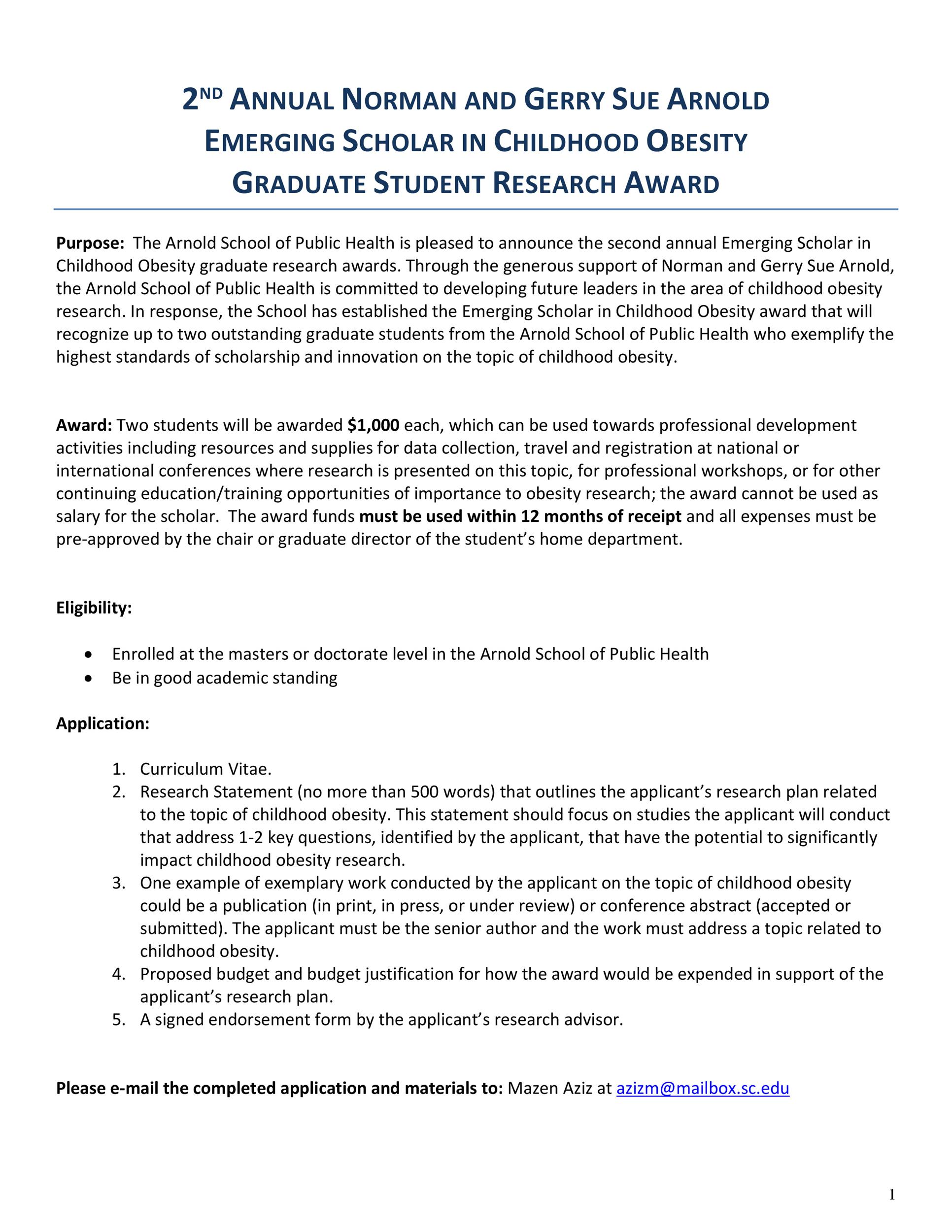 Free Scholarship Application Template 46