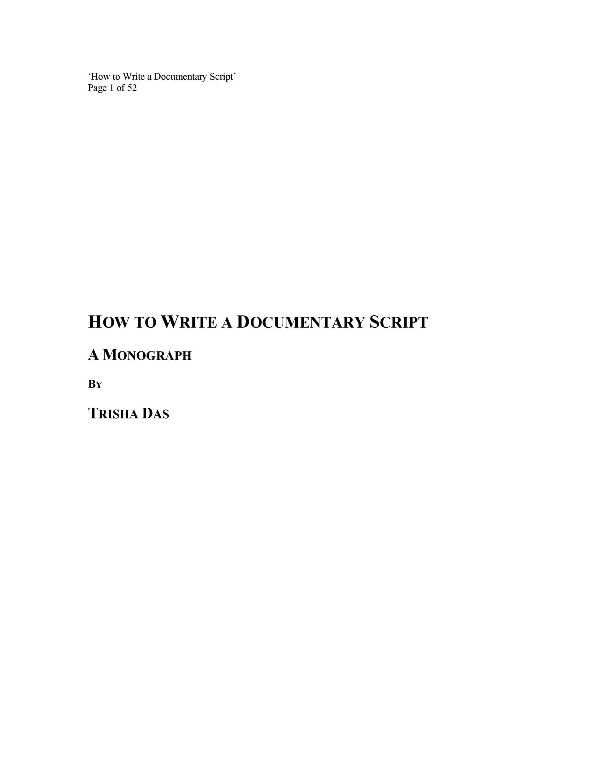 Free Screenplay Template 03