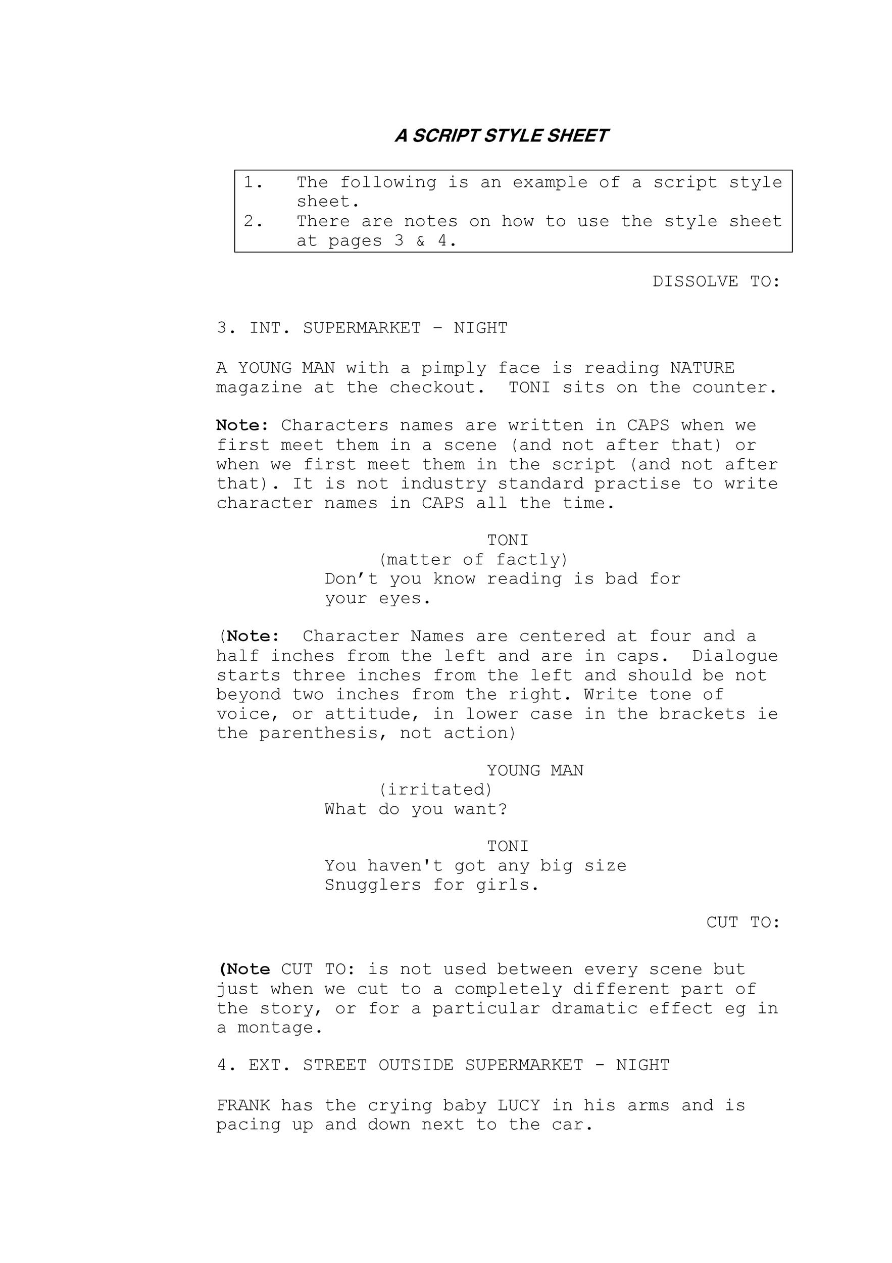Free Screenplay Template 04