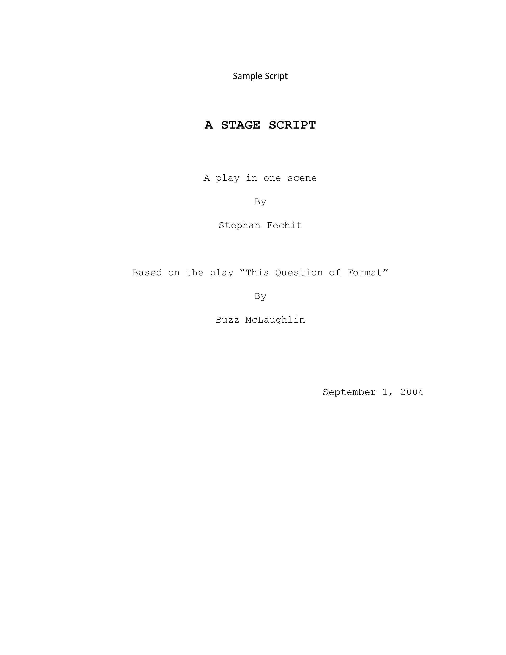 Free Screenplay Template 08