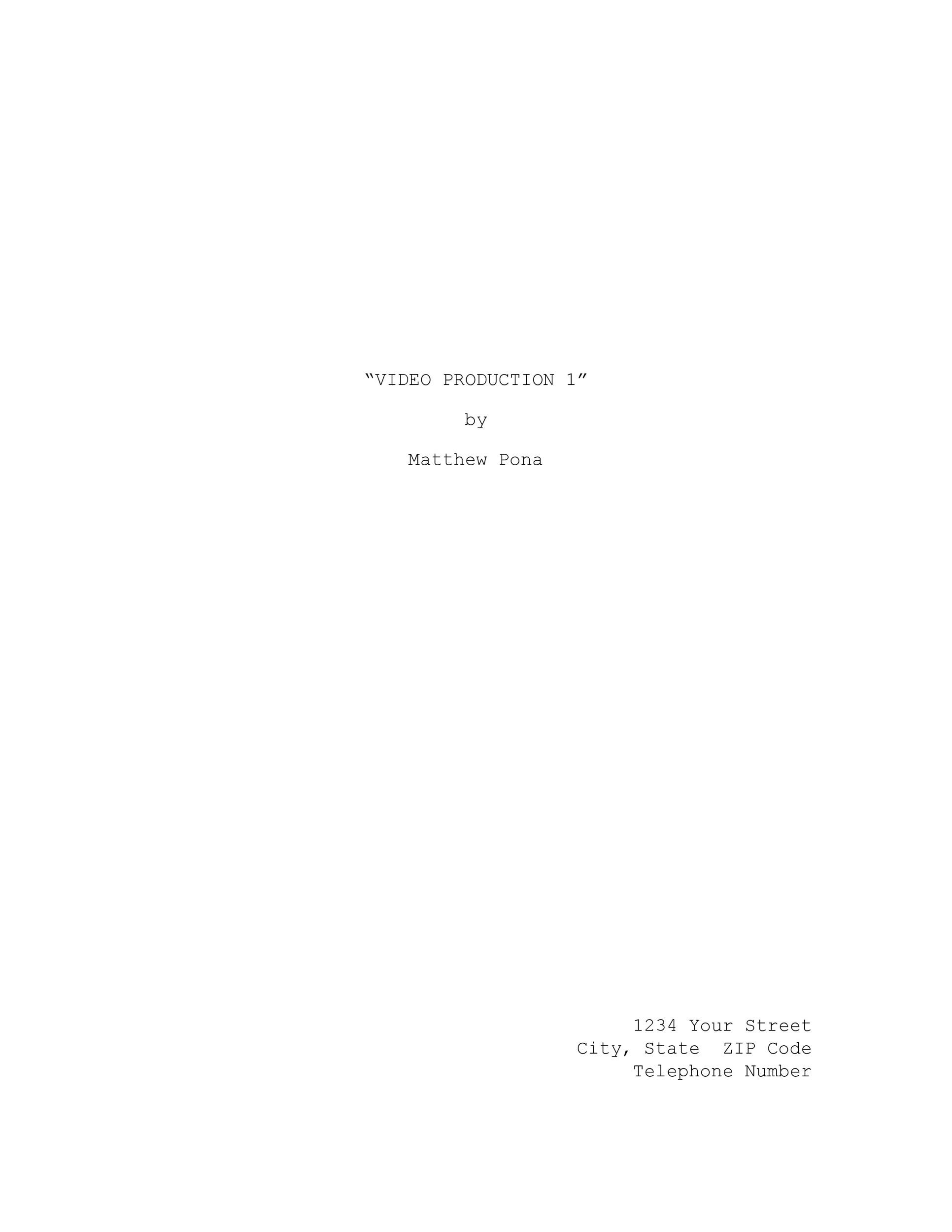 Free Screenplay Template 09