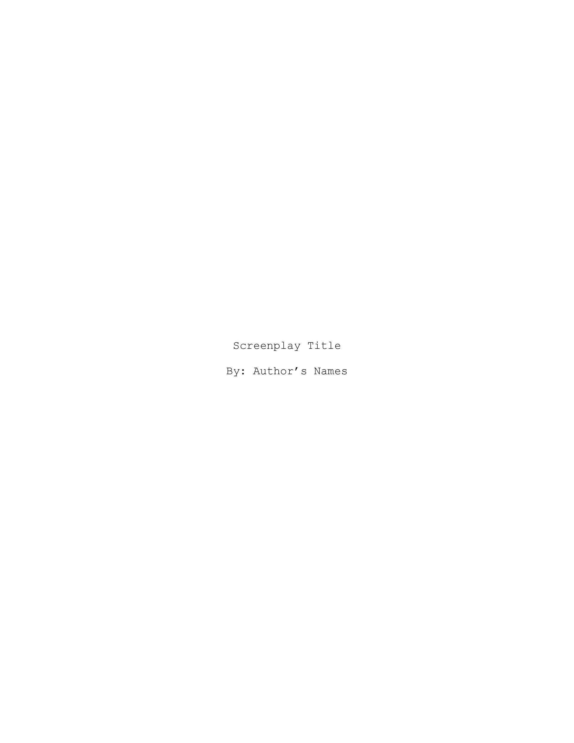 Free Screenplay Template 10