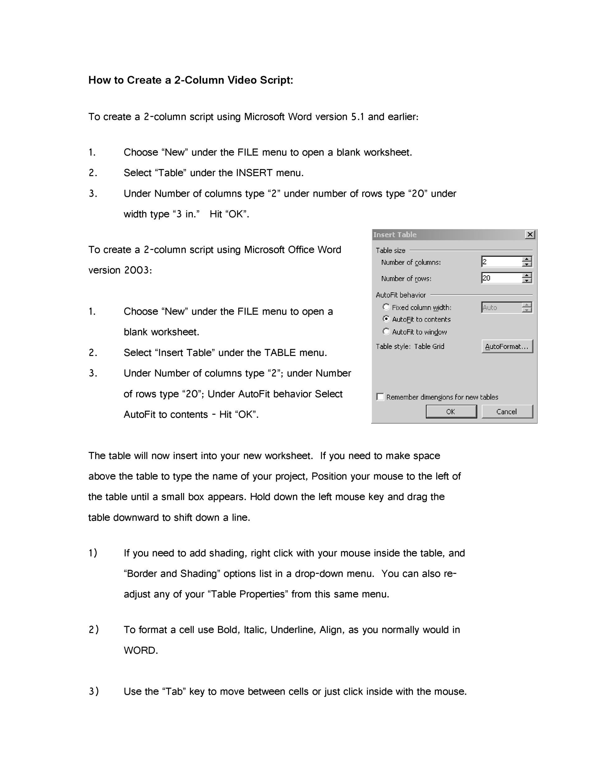 Free Screenplay Template 11