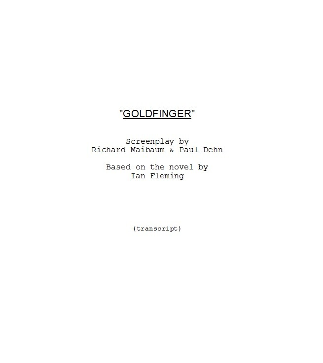 Free Screenplay Template 14