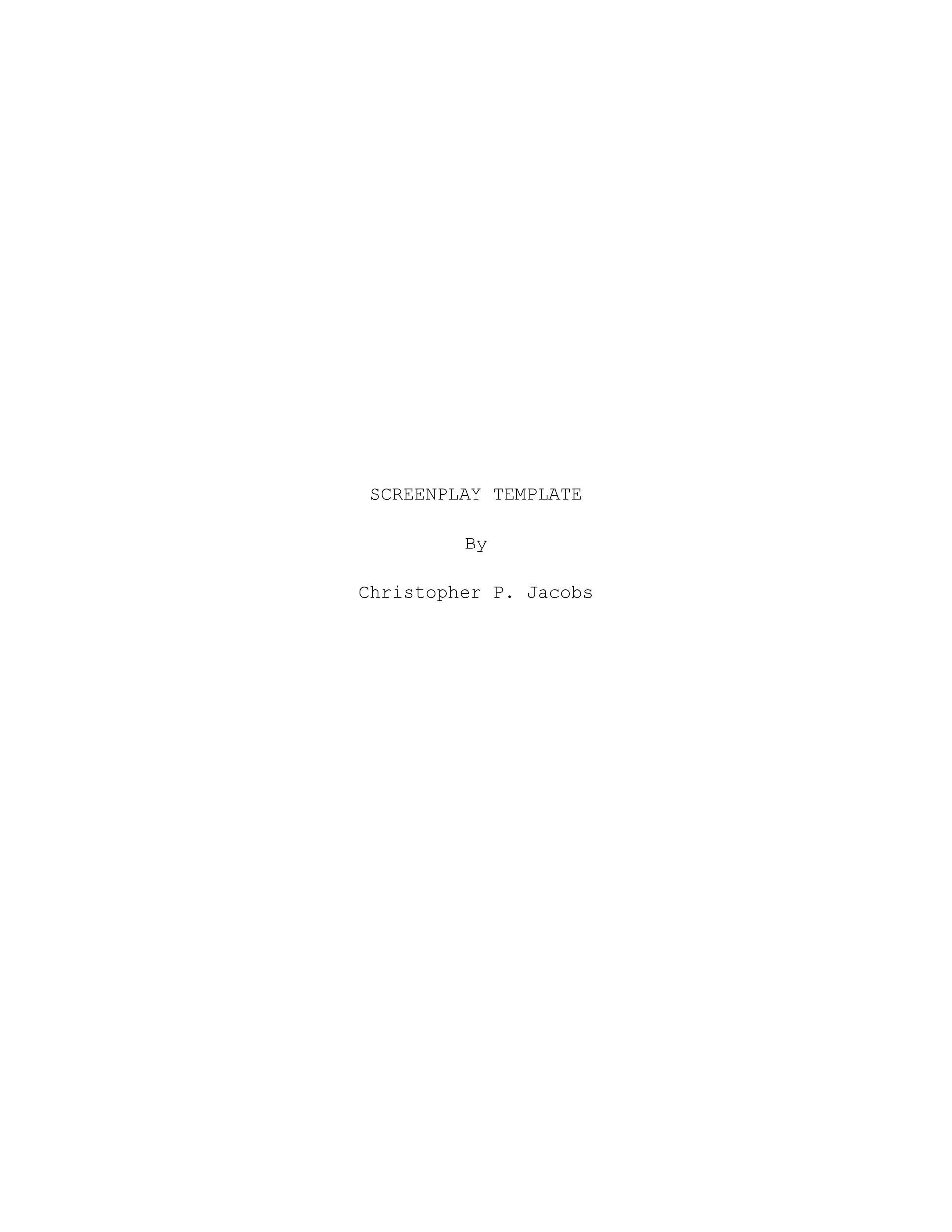 37 creative screenplay templates screenplay format guide