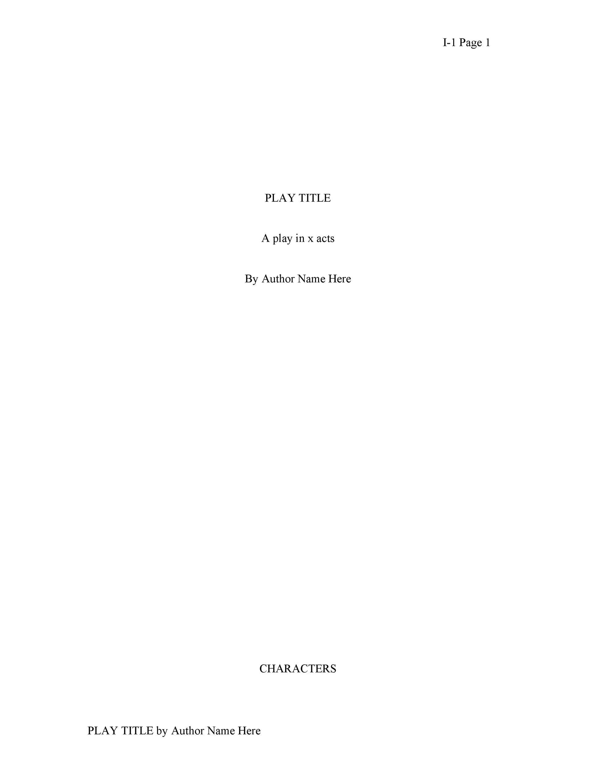 Free Screenplay Template 26