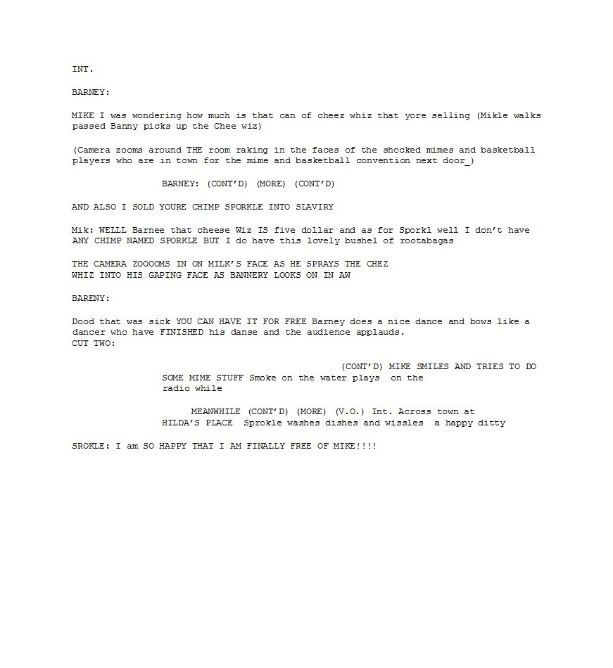 Free Screenplay Template 32