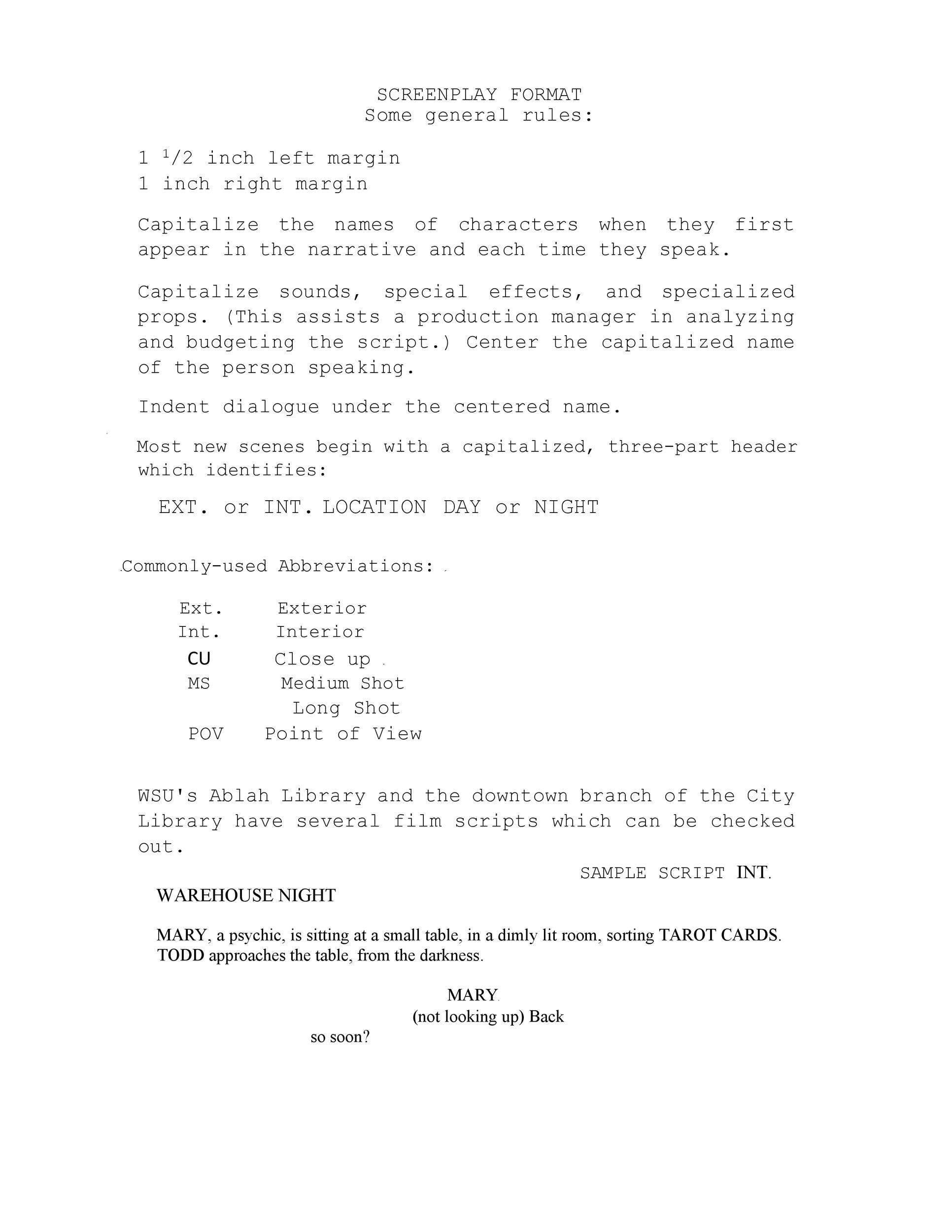 Free Screenplay Template 35
