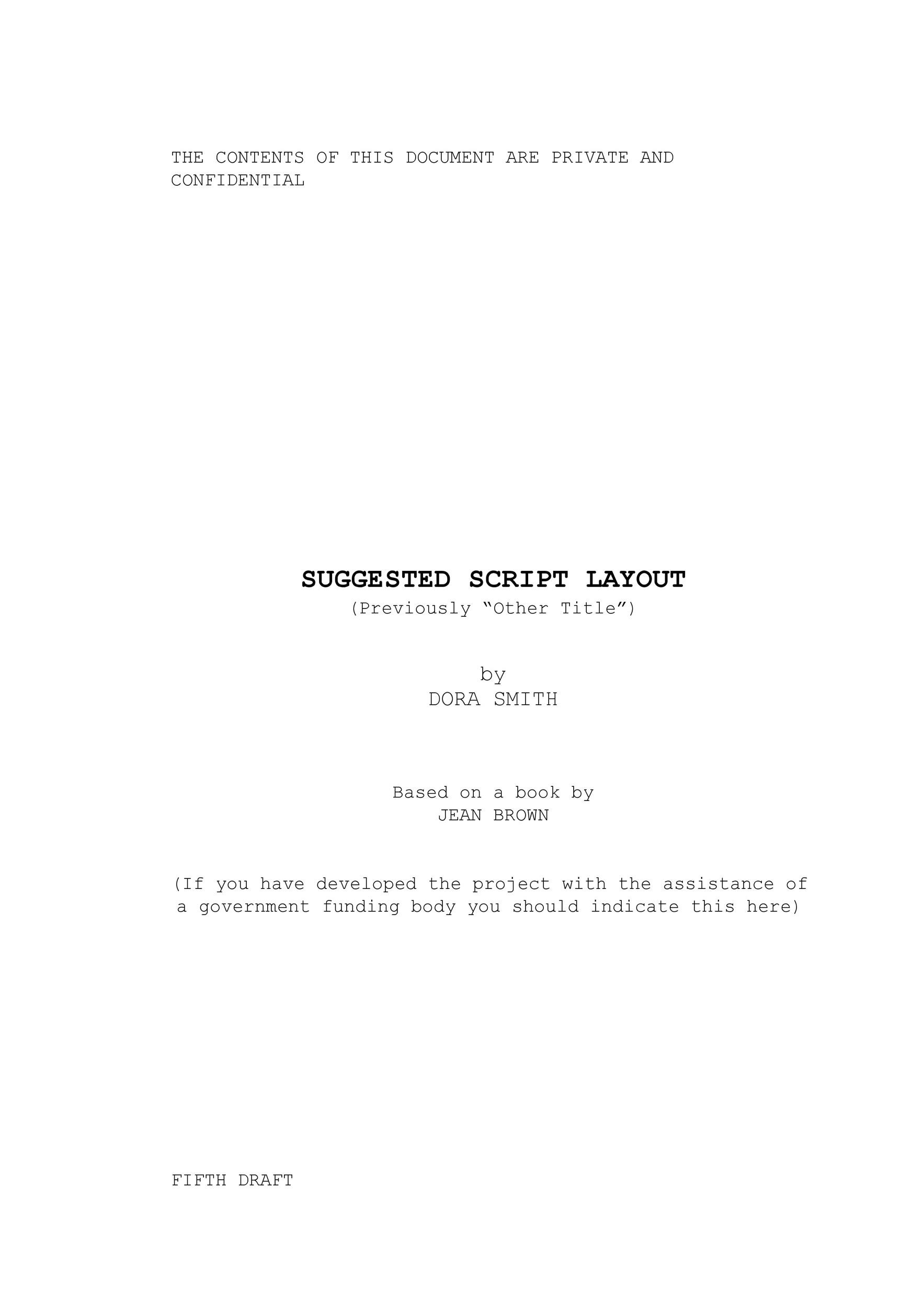 Free Screenplay Template 37