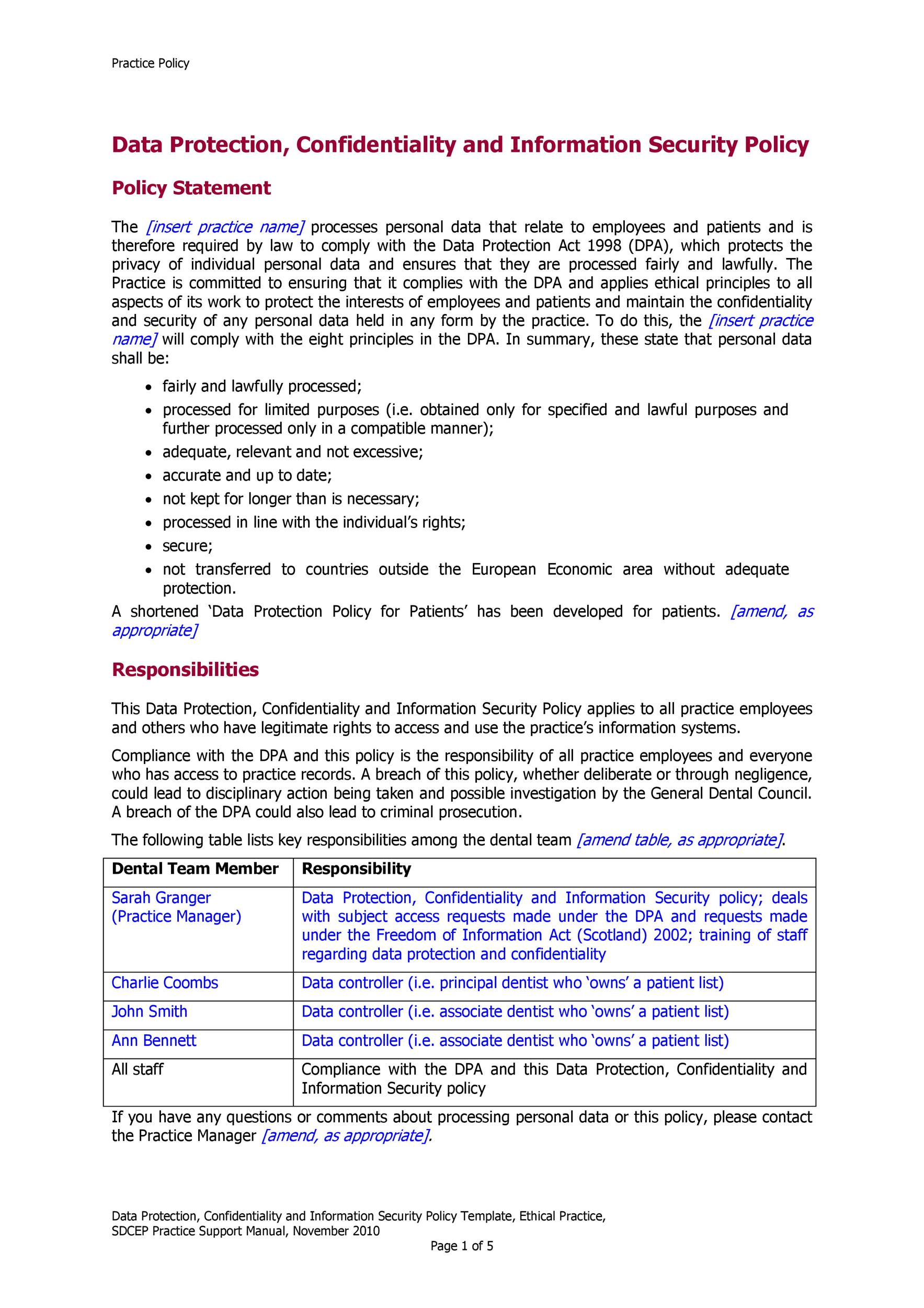 Corporate Security Policy Template from templatelab.com