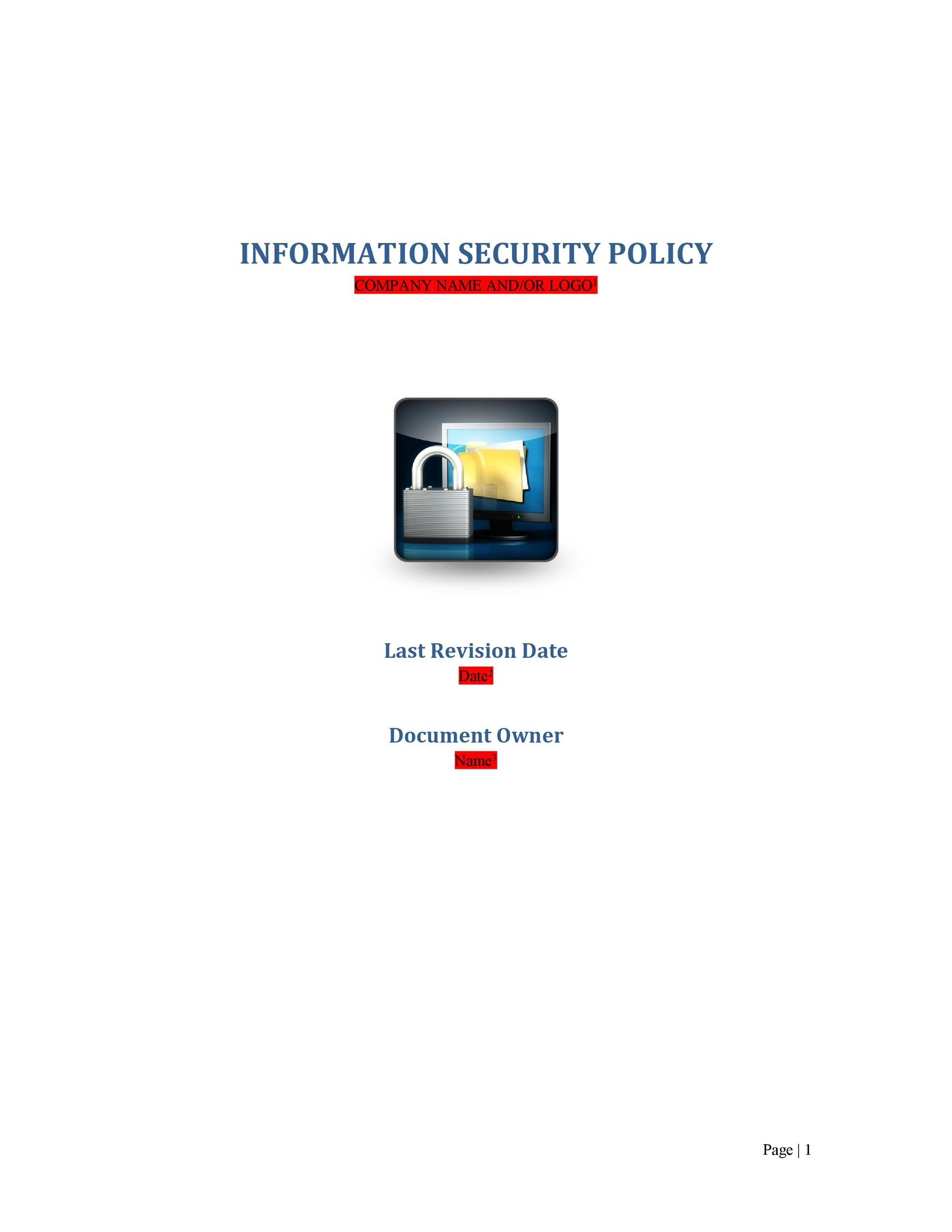 Free Security Policy 20
