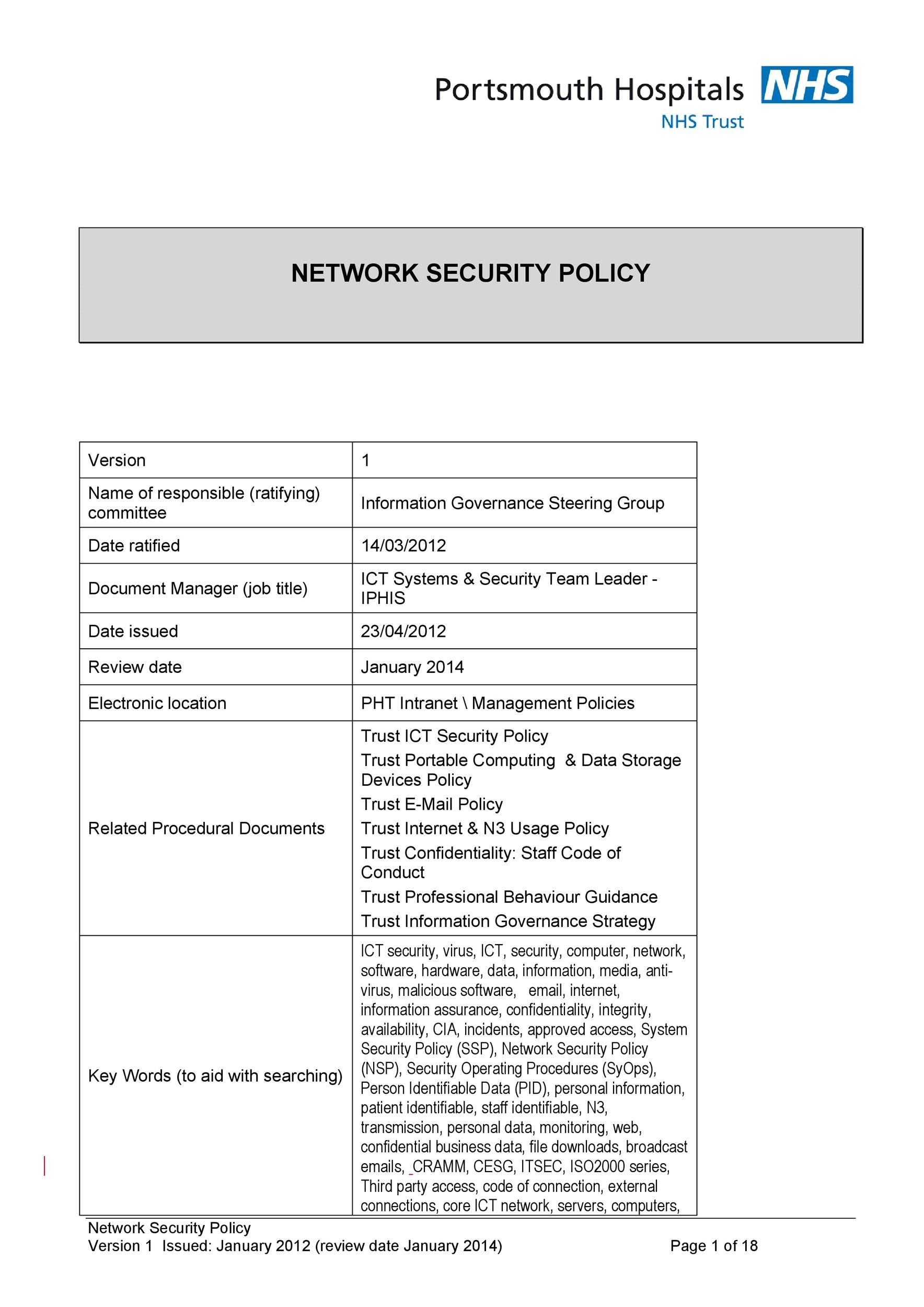 Free Security Policy 32