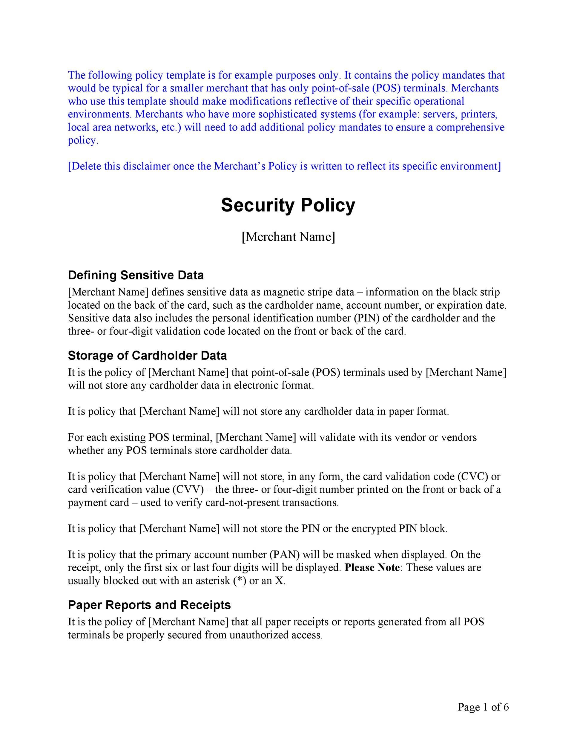 Free Security Policy 34