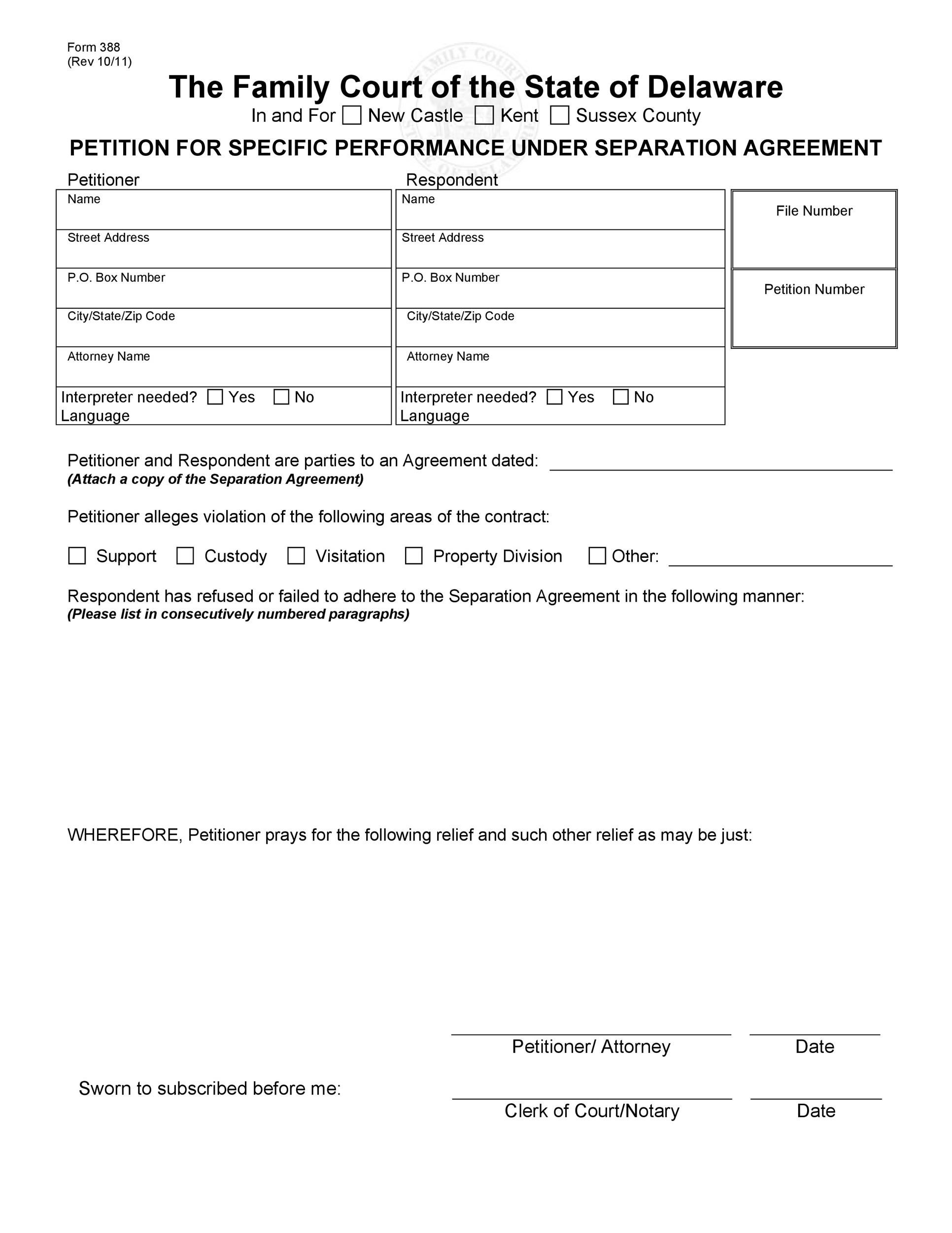 Free Separation Agreement Template 05