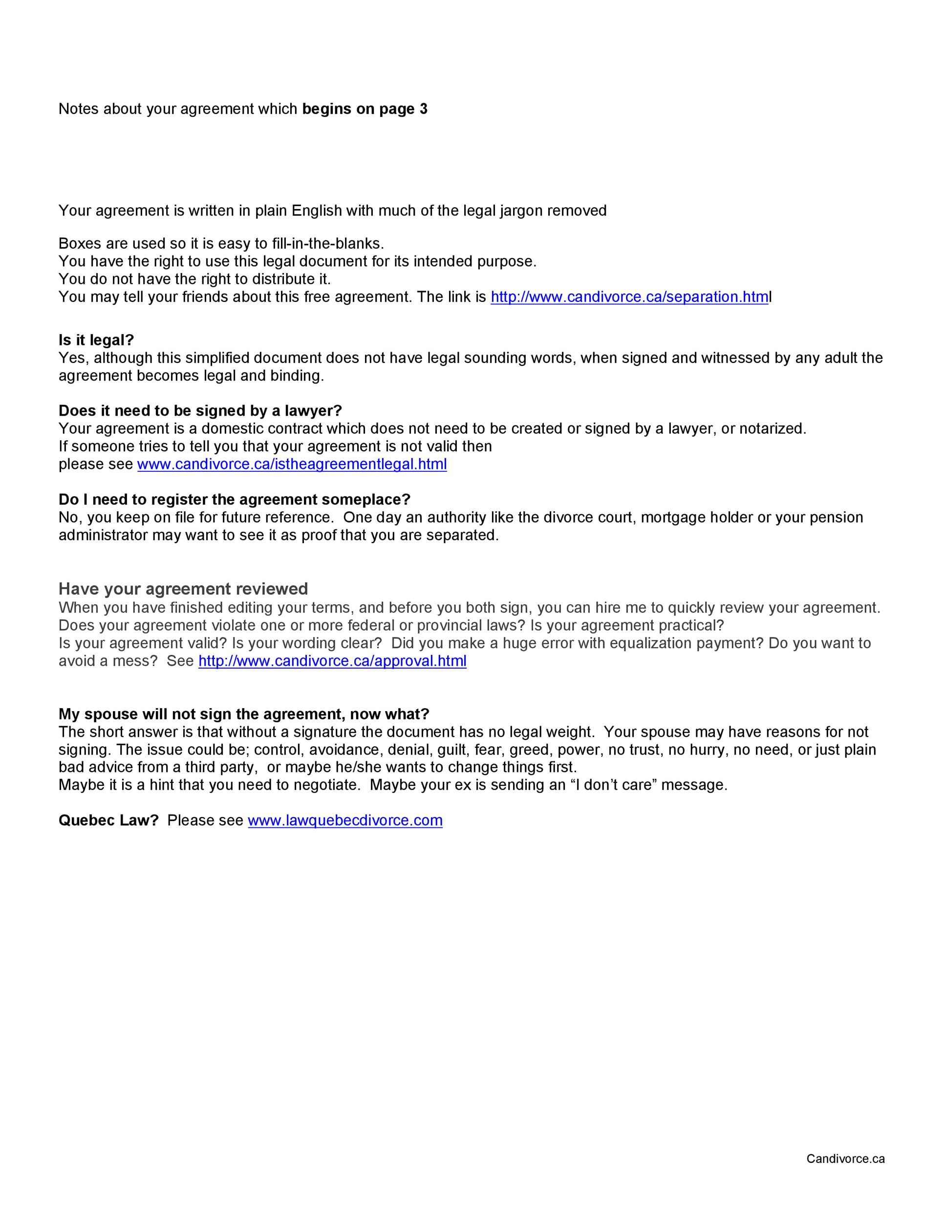 Free Separation Agreement Template 11