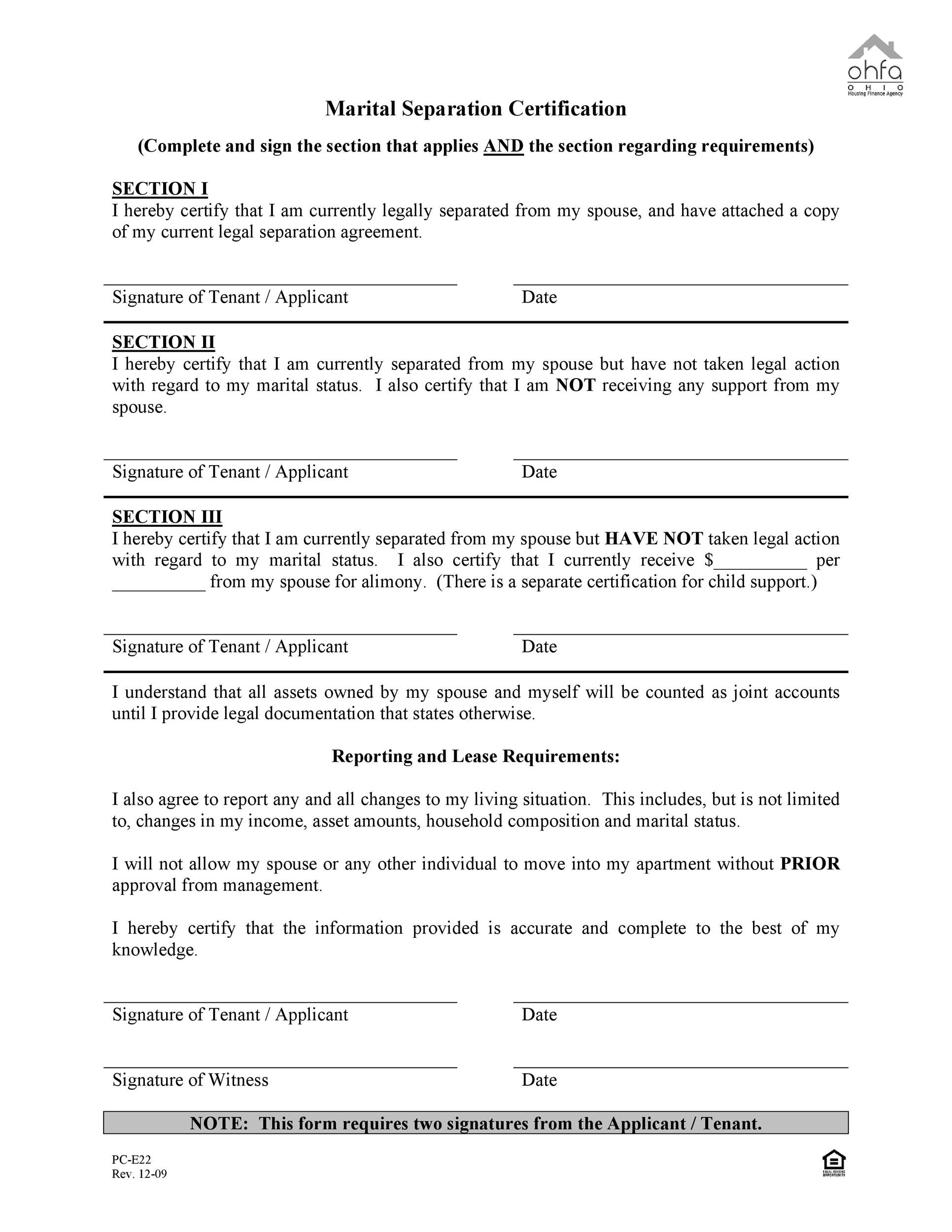 Free Separation Agreement Template 15