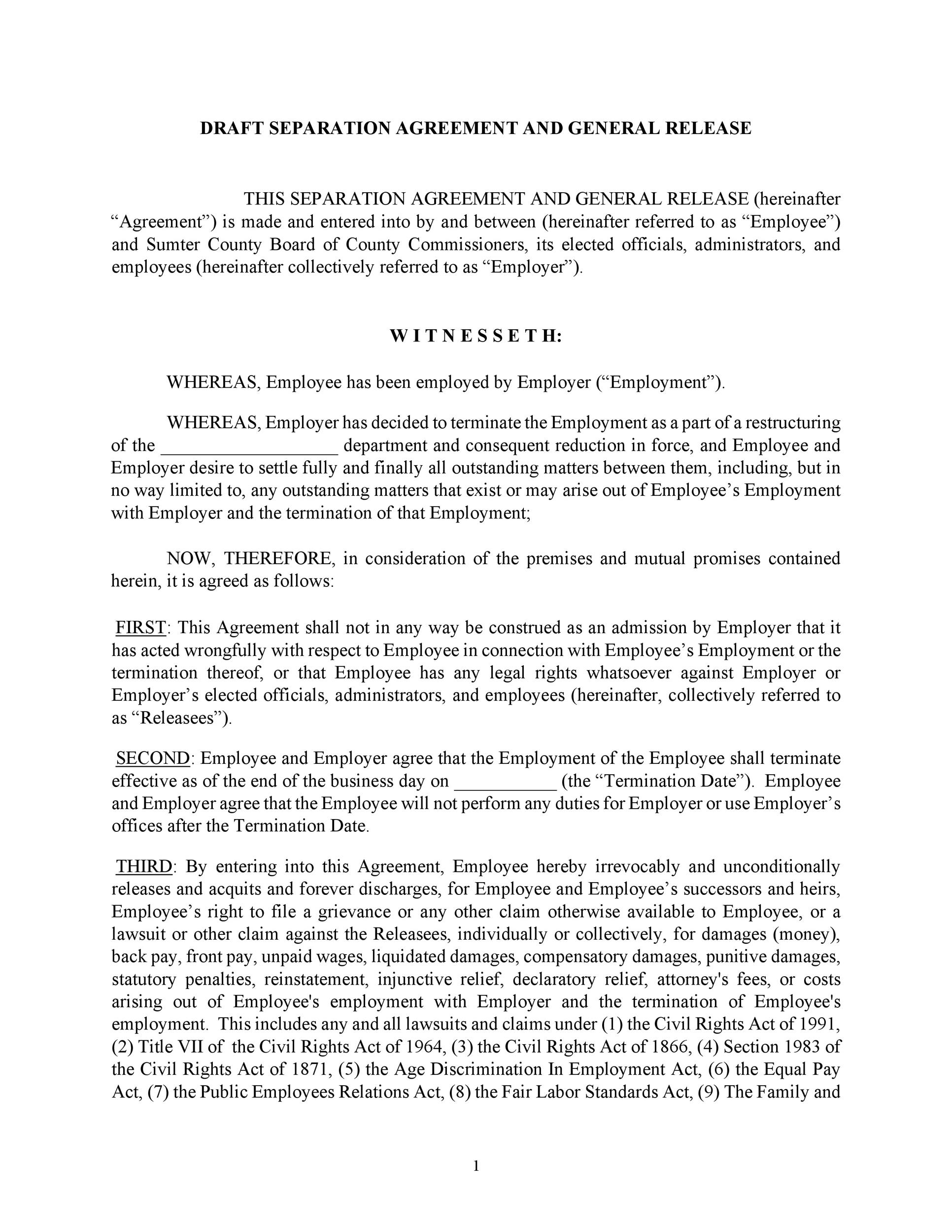 Free Separation Agreement Template 22