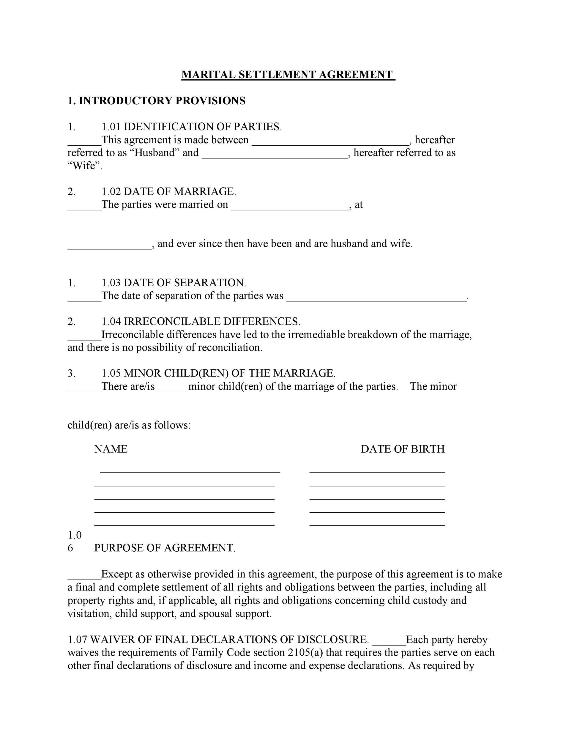 Free Separation Agreement Template 23