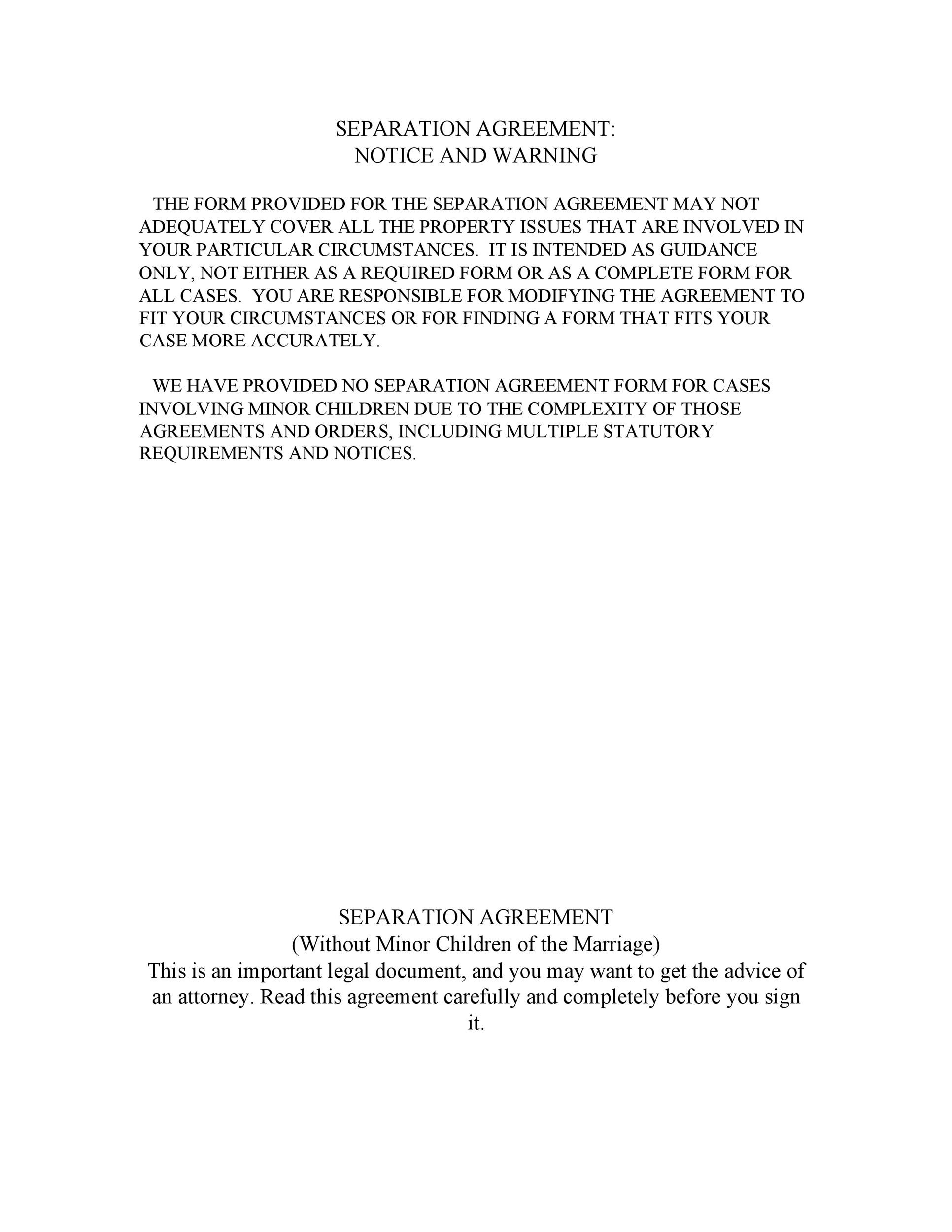 Free Separation Agreement Template 28