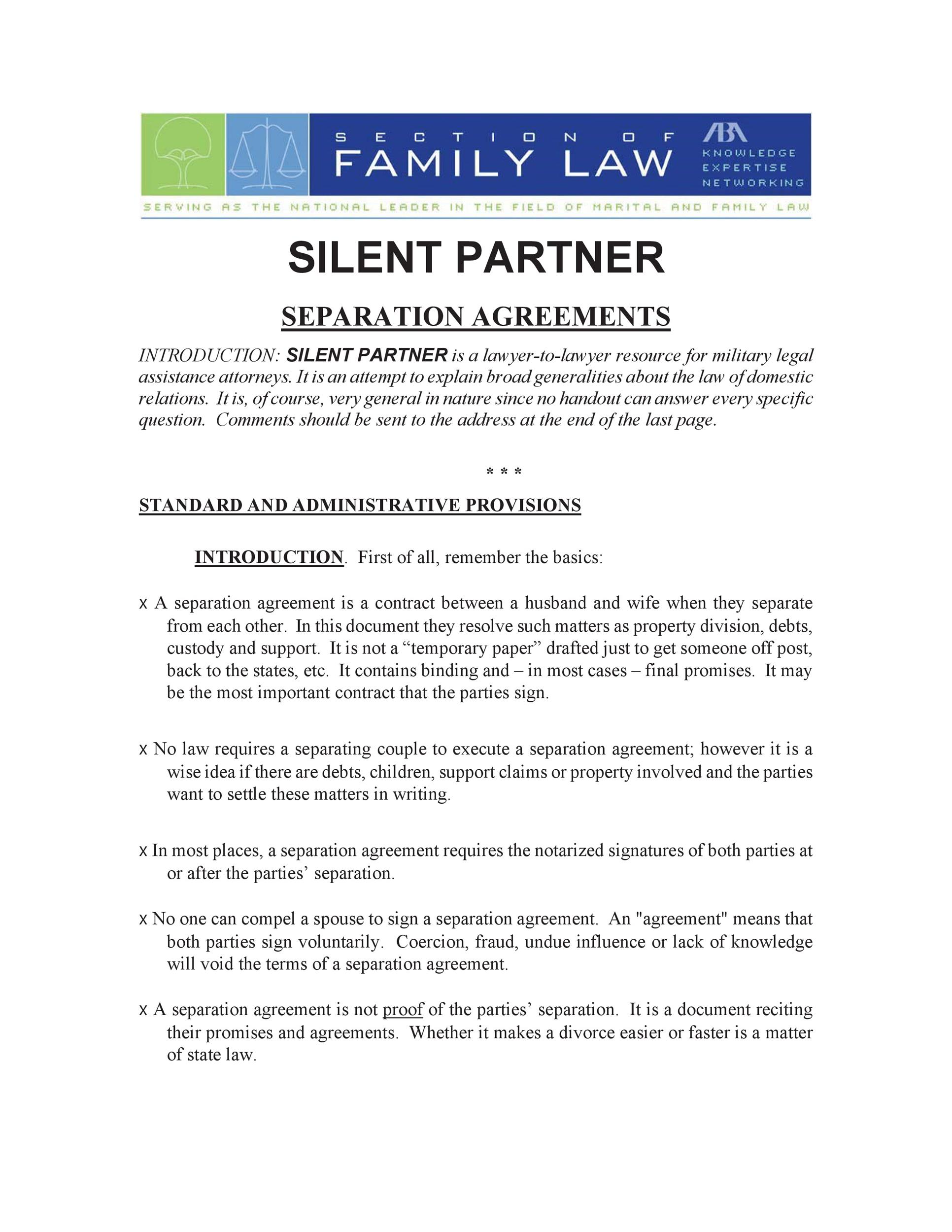 Free Separation Agreement Template 34