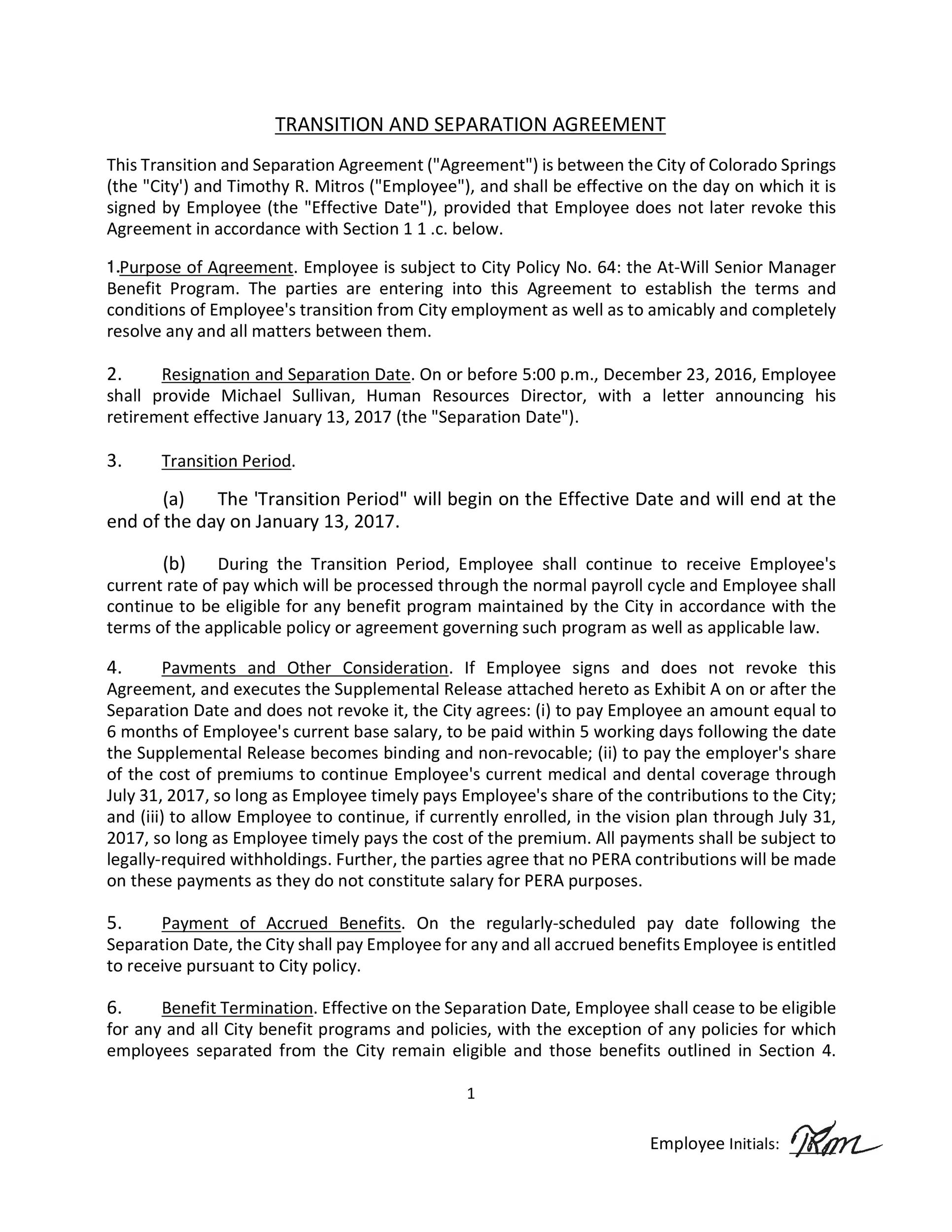 Free Separation Agreement Template 43