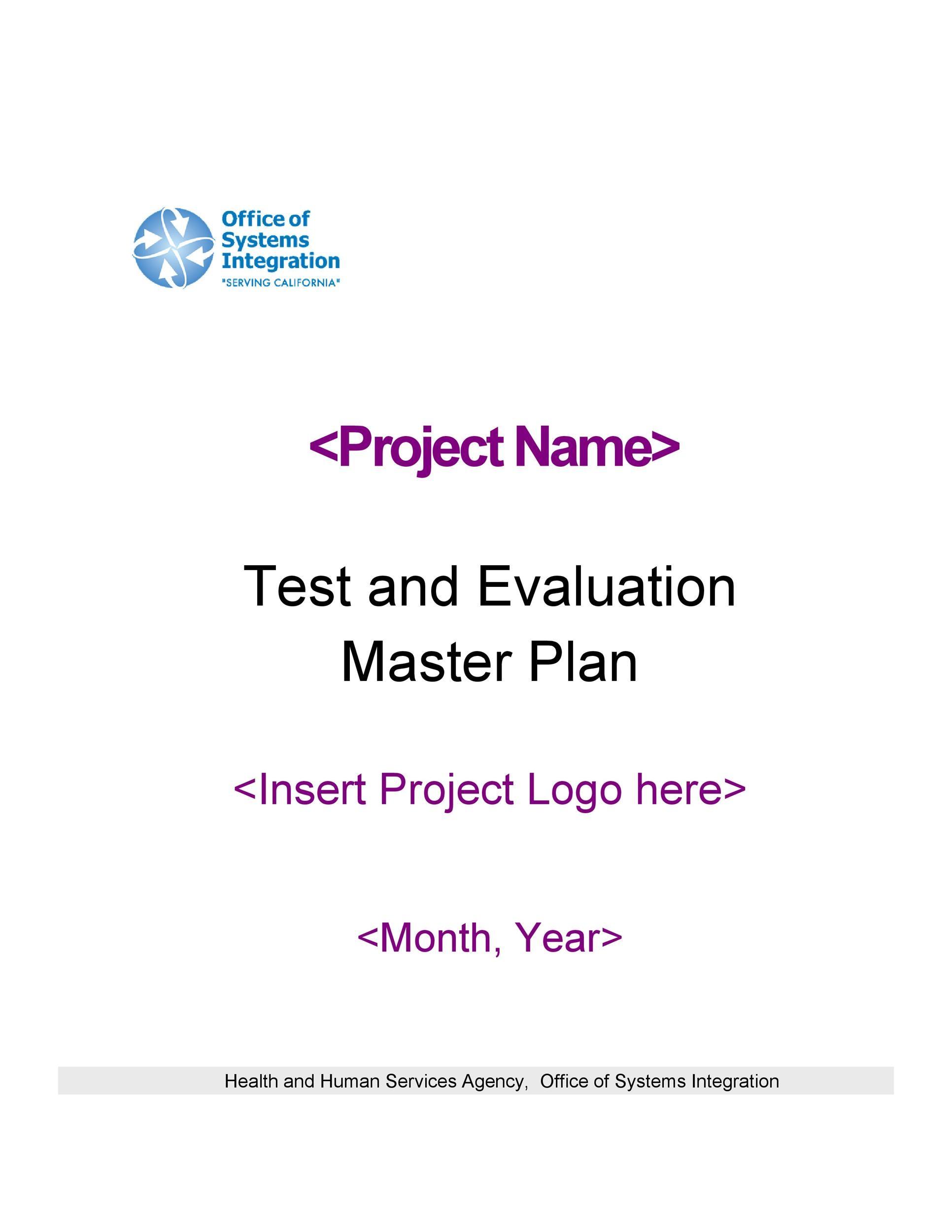 Free Test Plan Template 01